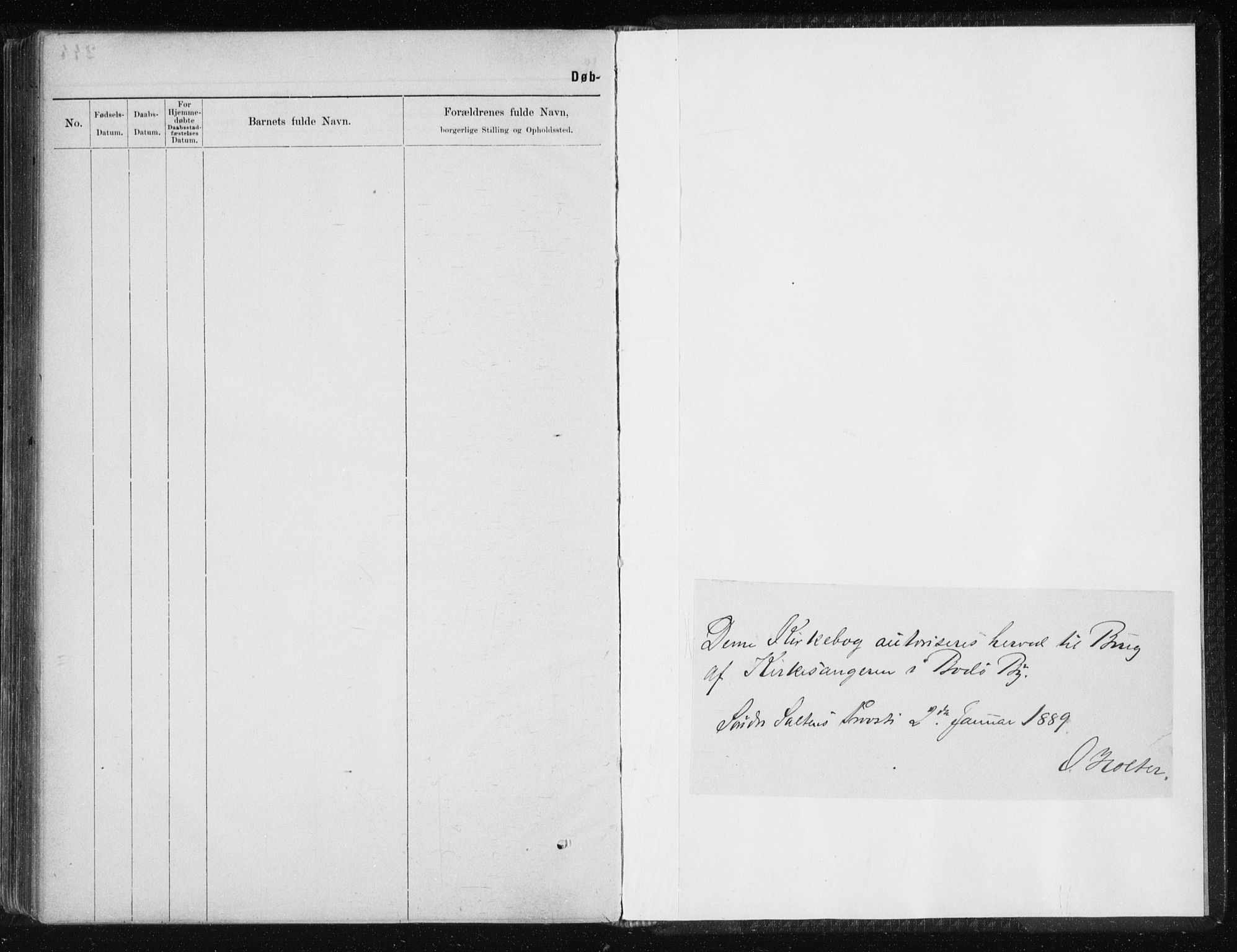 SAT, Ministerialprotokoller, klokkerbøker og fødselsregistre - Nordland, 801/L0032: Klokkerbok nr. 801C07, 1889-1897