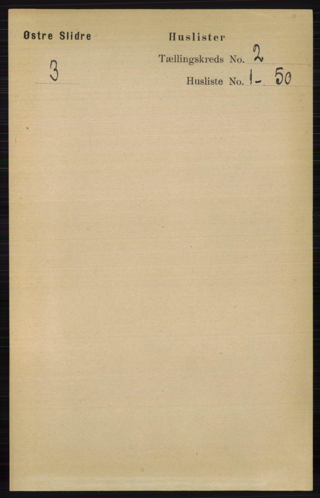 RA, Folketelling 1891 for 0544 Øystre Slidre herred, 1891, s. 219