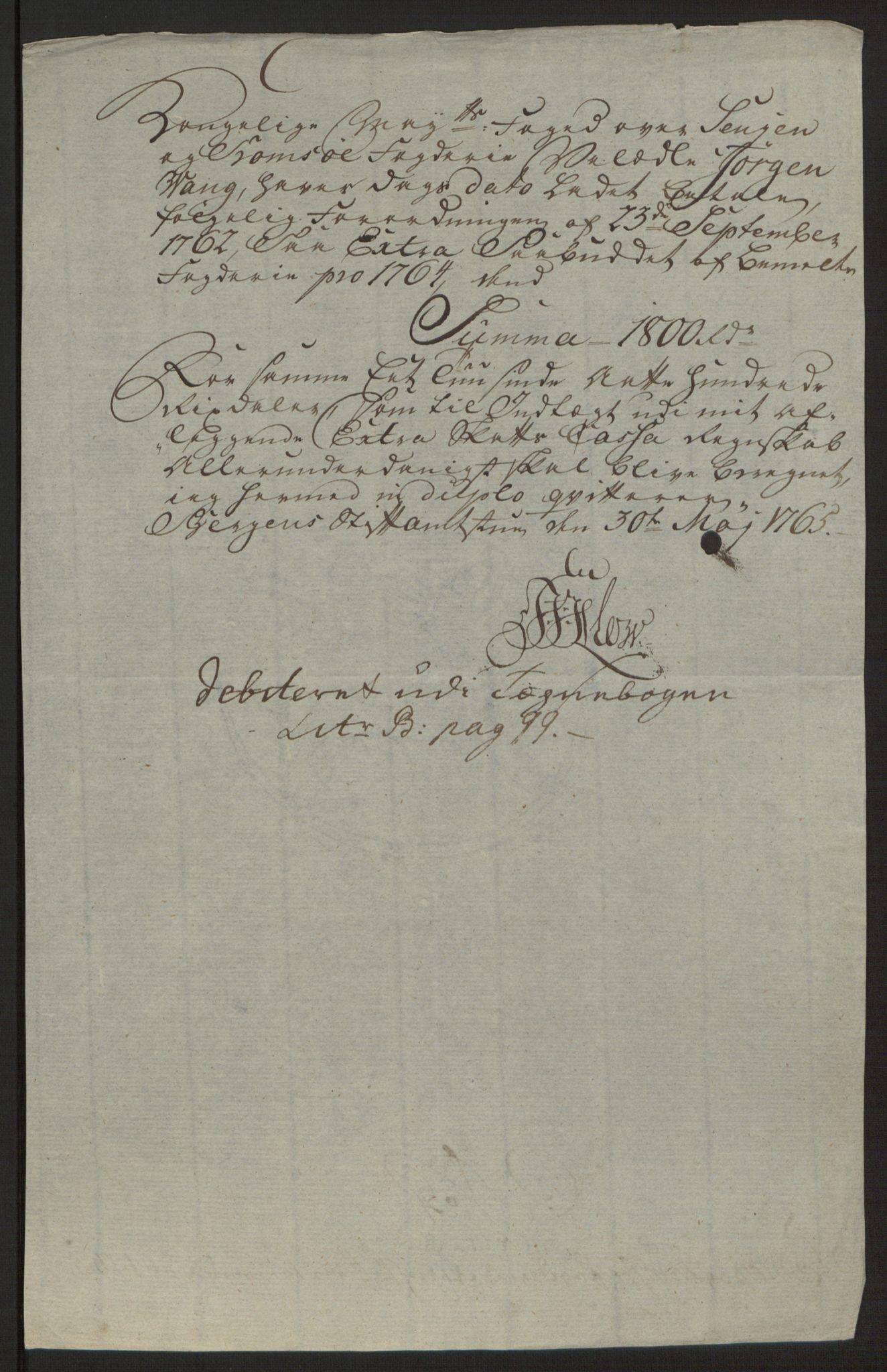 RA, Rentekammeret inntil 1814, Reviderte regnskaper, Fogderegnskap, R68/L4845: Ekstraskatten Senja og Troms, 1762-1765, s. 558
