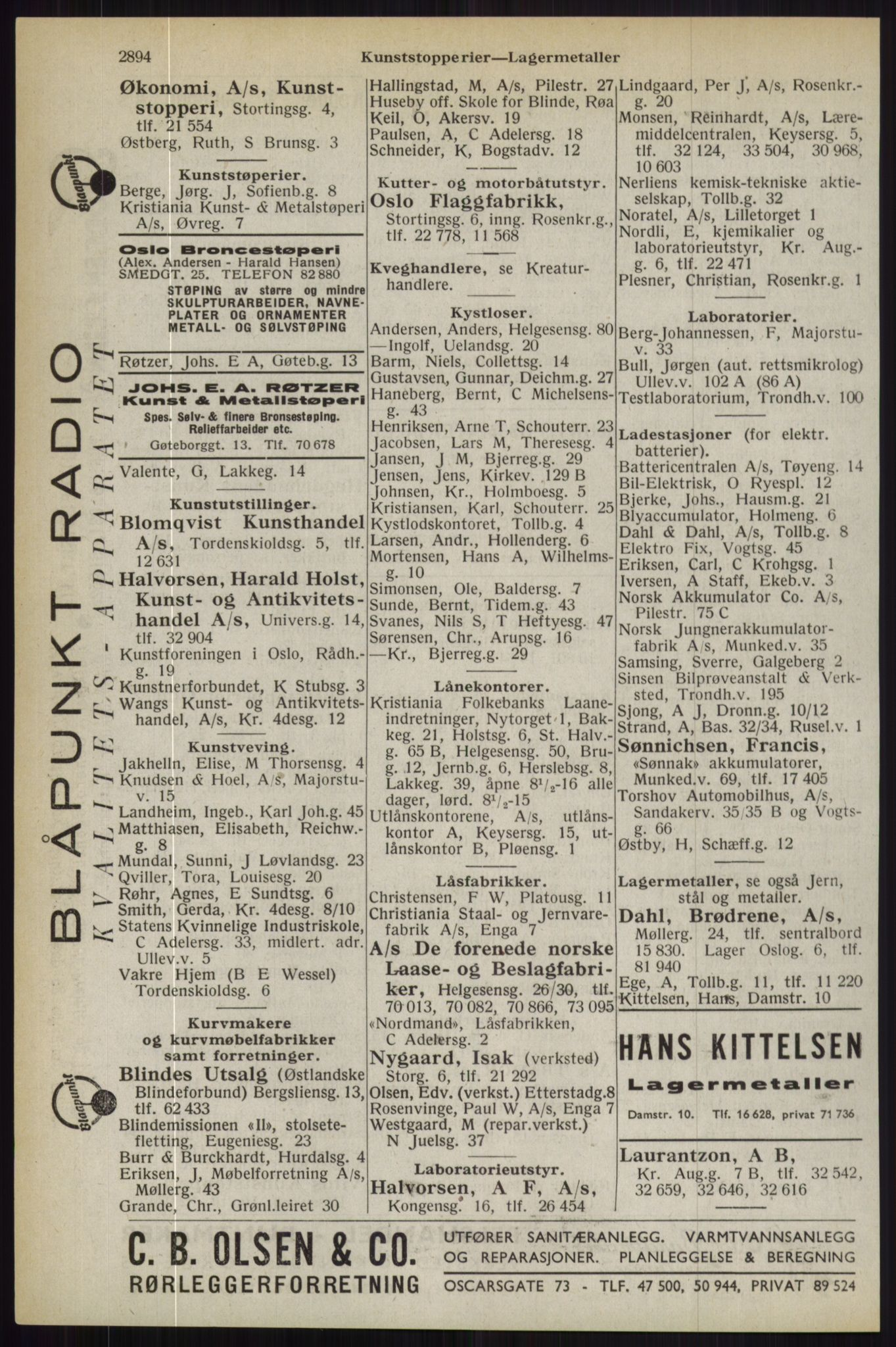 RA, Oslo adressebok (publikasjon)*, 1944, s. 2894