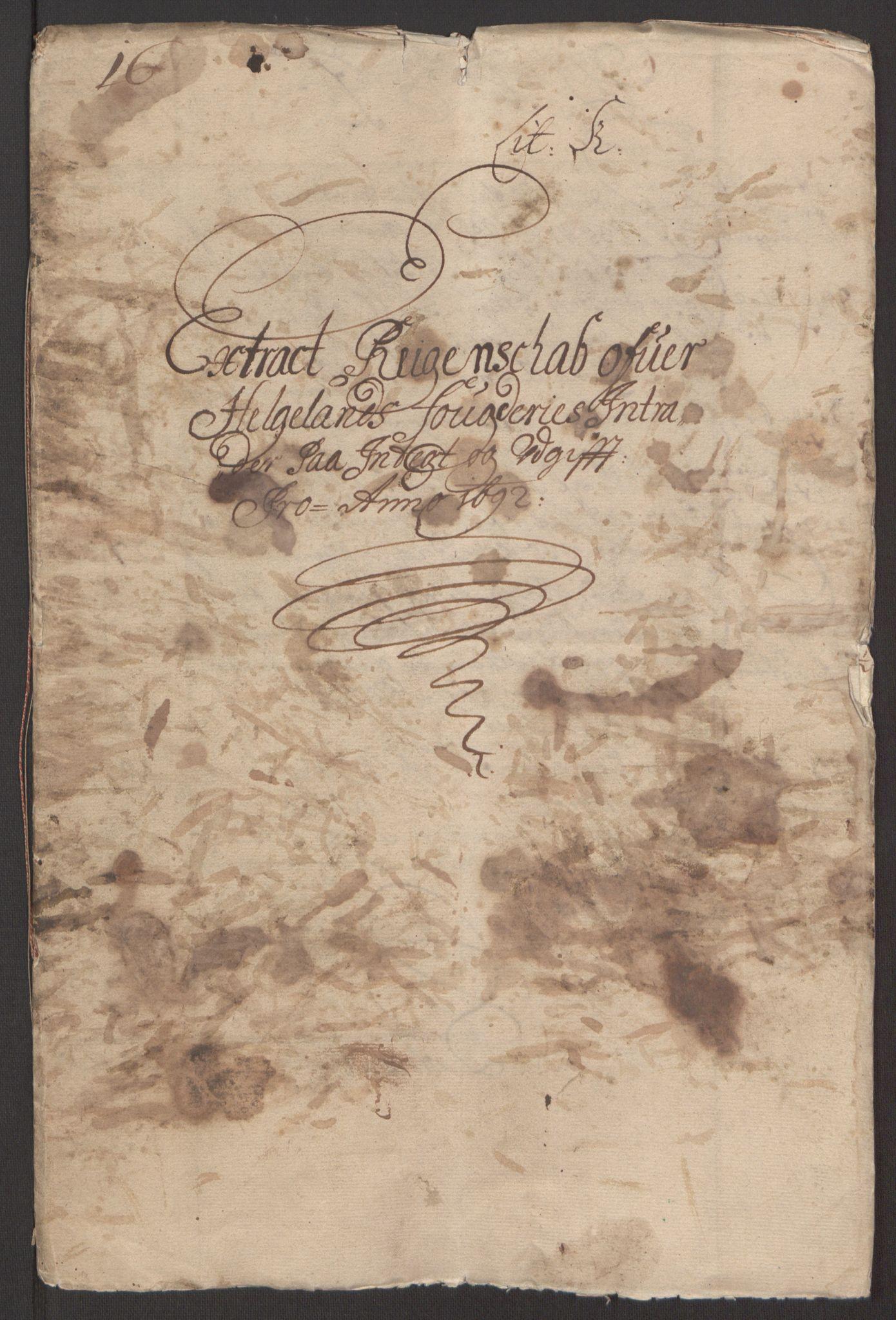 RA, Rentekammeret inntil 1814, Reviderte regnskaper, Fogderegnskap, R65/L4504: Fogderegnskap Helgeland, 1691-1692, s. 166
