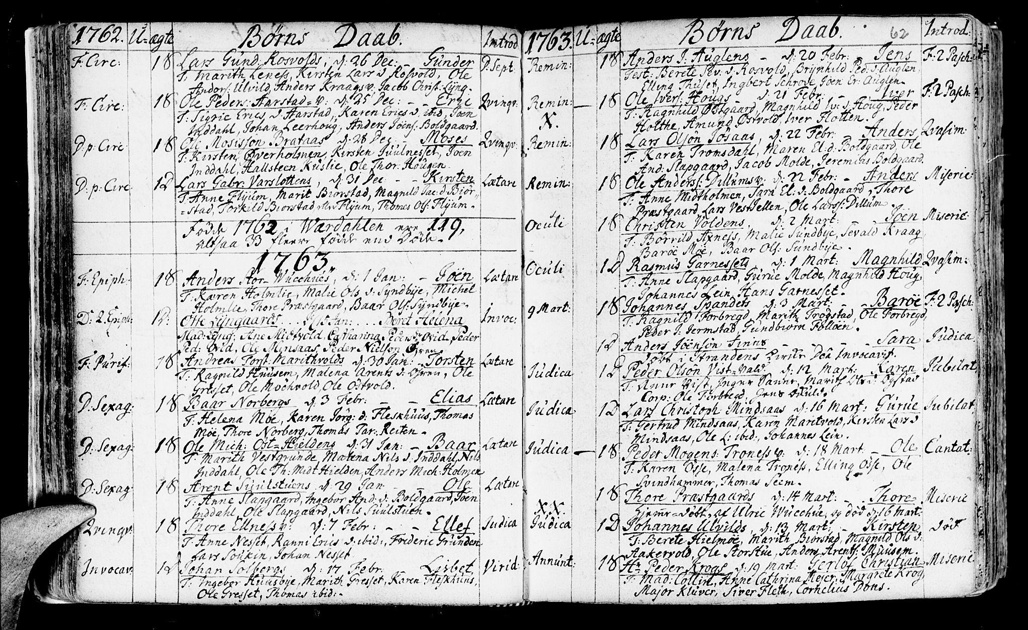 SAT, Ministerialprotokoller, klokkerbøker og fødselsregistre - Nord-Trøndelag, 723/L0231: Ministerialbok nr. 723A02, 1748-1780, s. 62