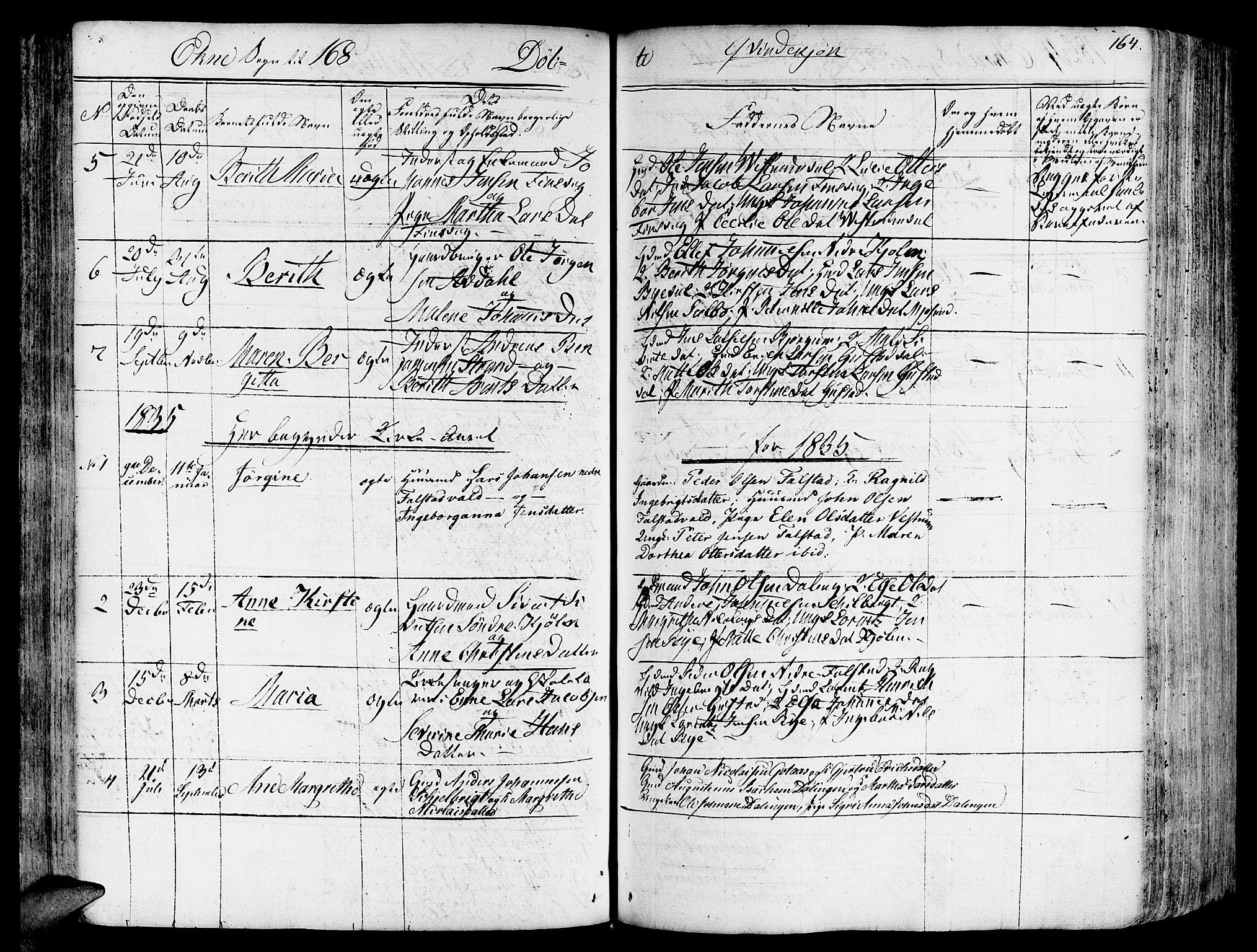 SAT, Ministerialprotokoller, klokkerbøker og fødselsregistre - Nord-Trøndelag, 717/L0152: Ministerialbok nr. 717A05 /2, 1828-1836, s. 164