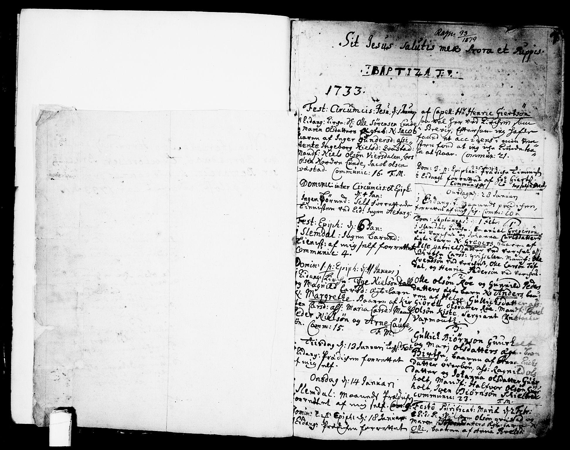 SAKO, Eidanger kirkebøker, F/Fa/L0004: Ministerialbok nr. 4, 1733-1759, s. 0-1