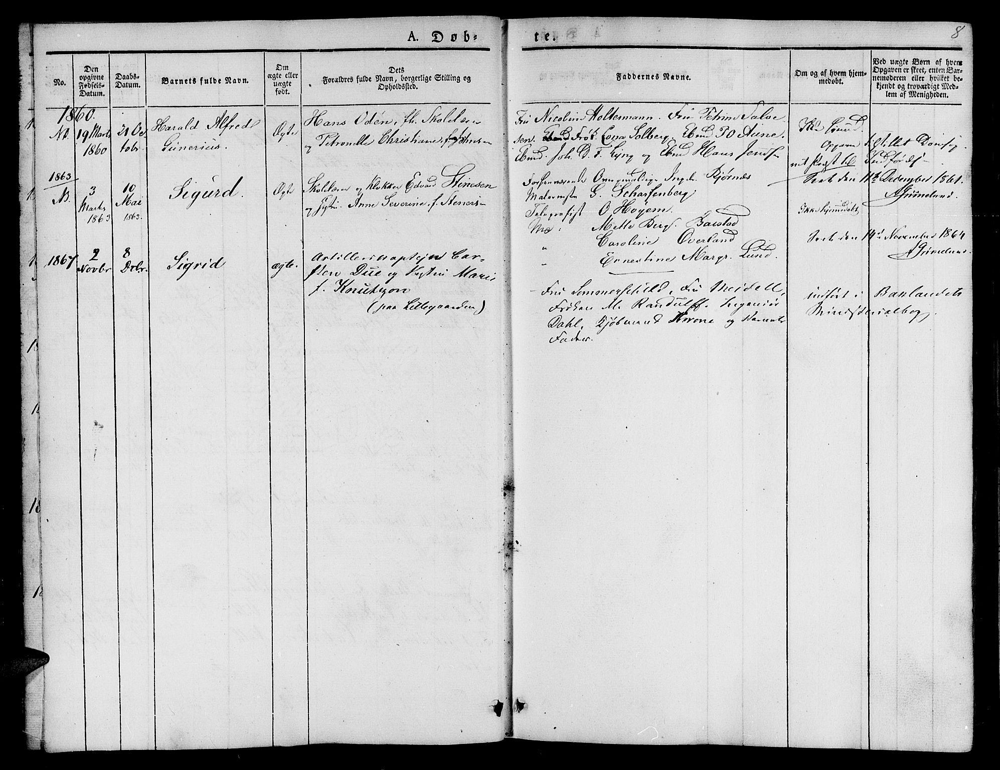 SAT, Ministerialprotokoller, klokkerbøker og fødselsregistre - Sør-Trøndelag, 623/L0468: Ministerialbok nr. 623A02, 1826-1867, s. 8