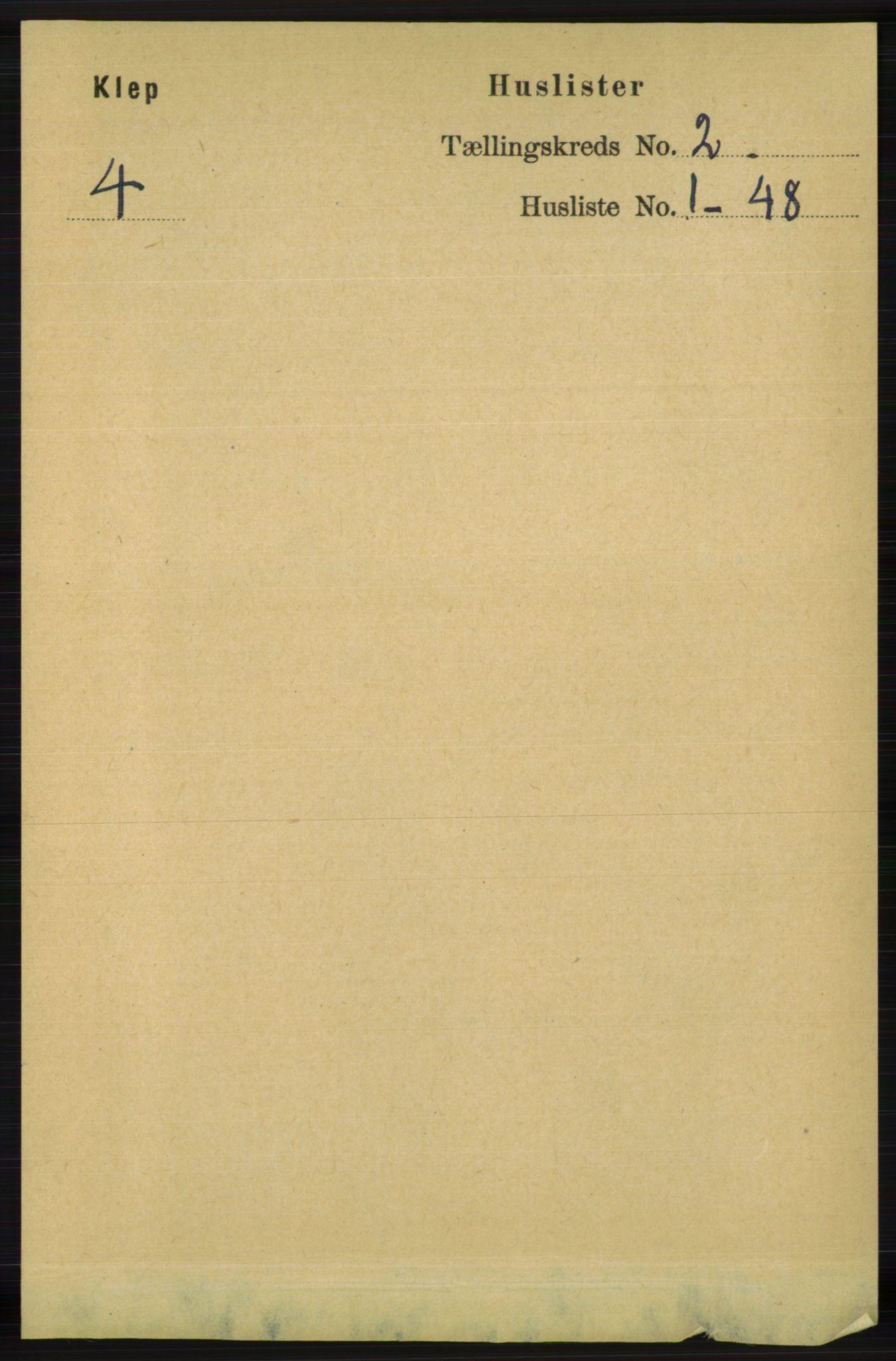 RA, Folketelling 1891 for 1120 Klepp herred, 1891, s. 308