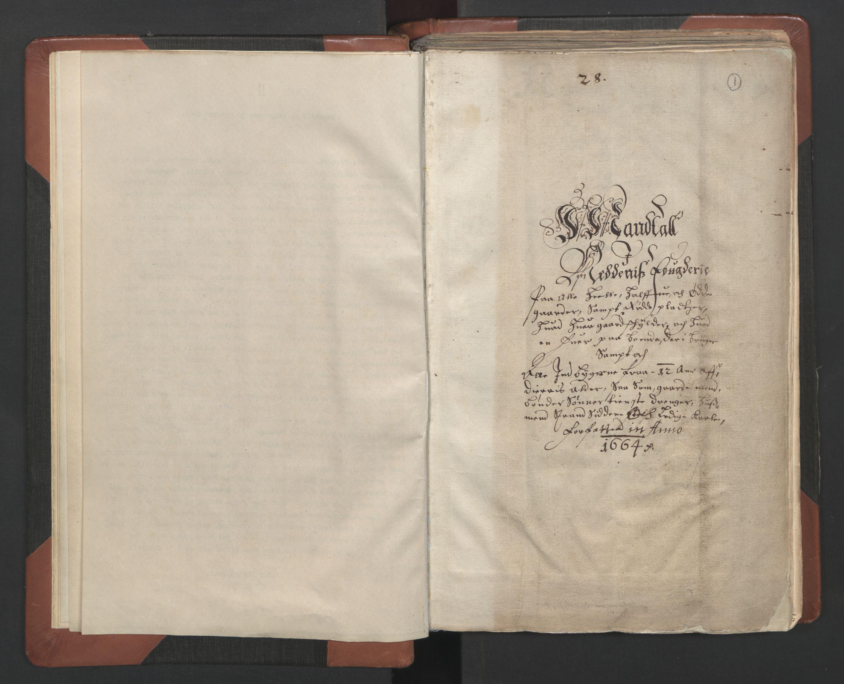 RA, Fogdenes og sorenskrivernes manntall 1664-1666, nr. 7: Nedenes fogderi, 1664-1666, s. 1