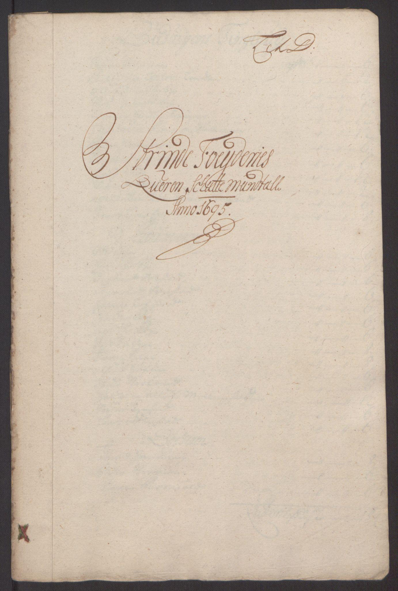 RA, Rentekammeret inntil 1814, Reviderte regnskaper, Fogderegnskap, R61/L4105: Fogderegnskap Strinda og Selbu, 1695, s. 34