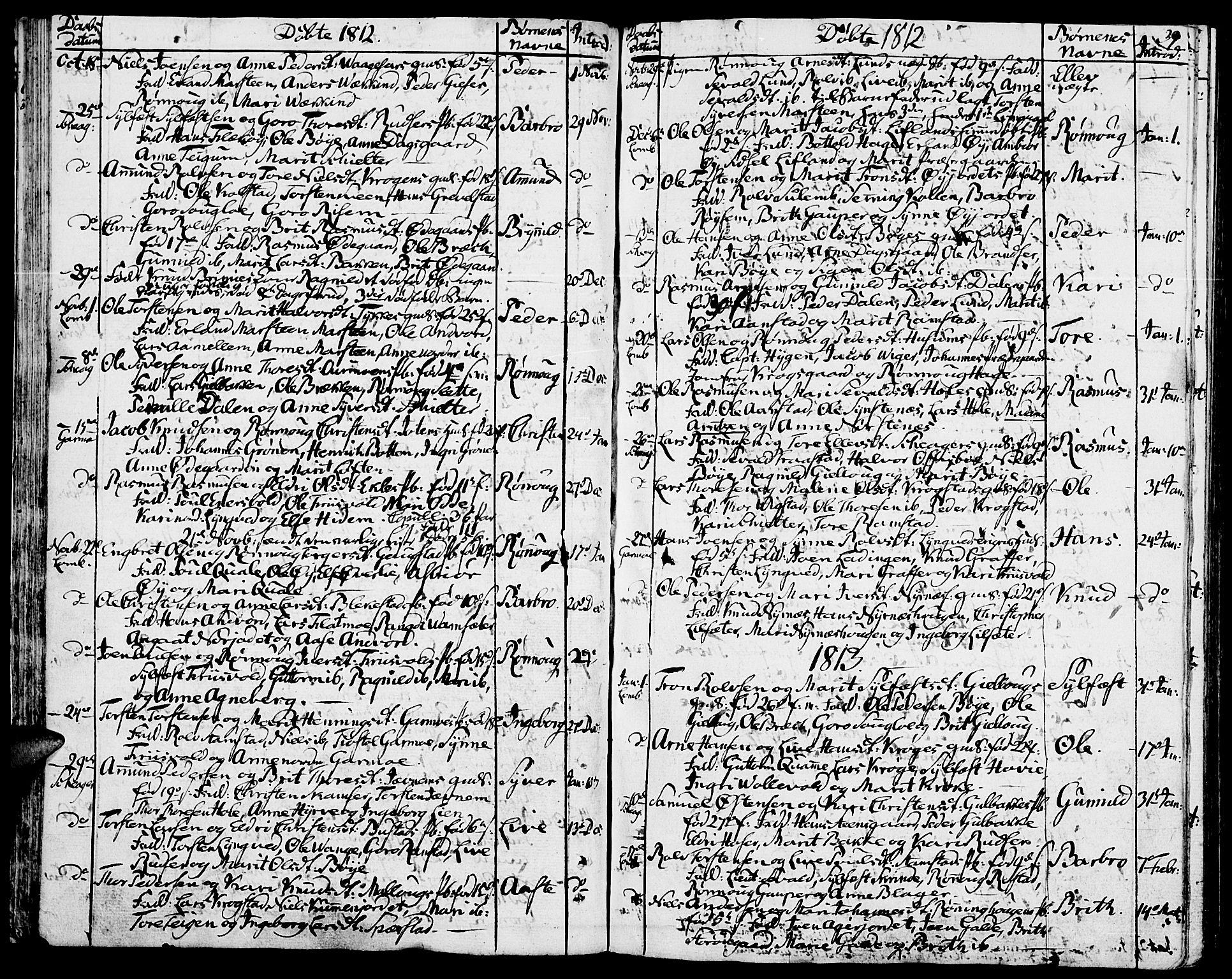 SAH, Lom prestekontor, K/L0003: Ministerialbok nr. 3, 1801-1825, s. 39