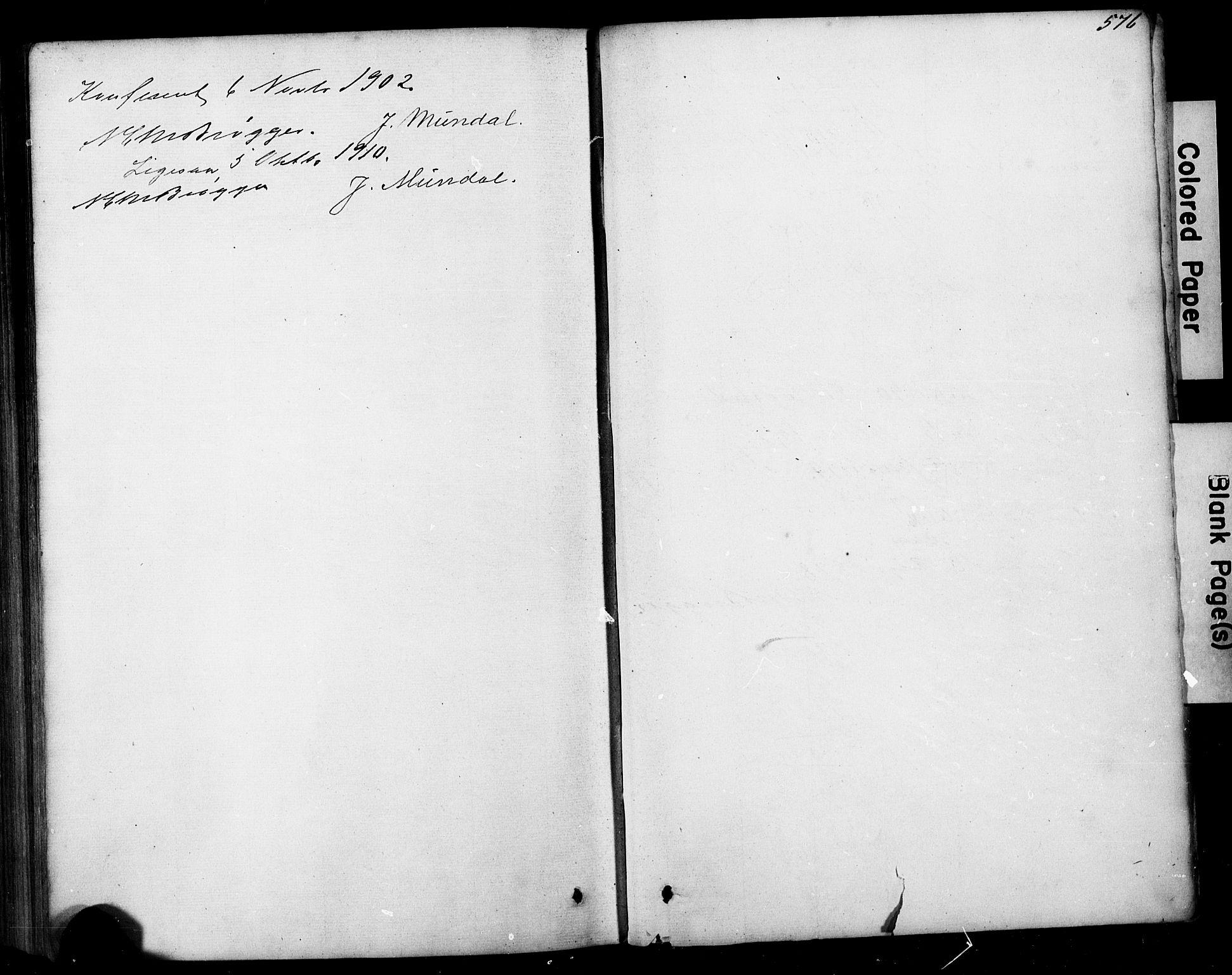 SAB, Hafslo Sokneprestembete, Klokkerbok nr. A 1, 1866-1908, s. 576