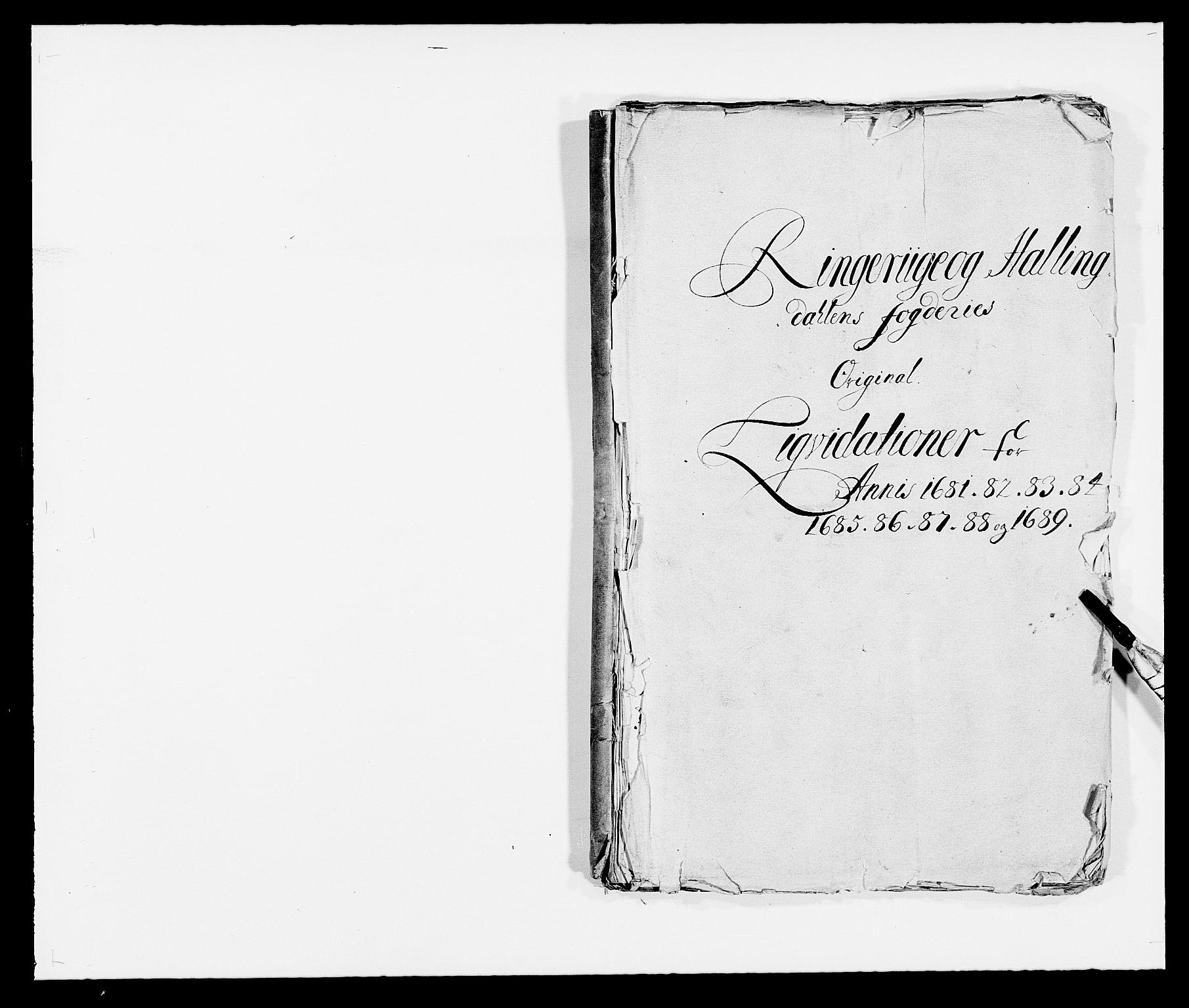 RA, Rentekammeret inntil 1814, Reviderte regnskaper, Fogderegnskap, R21/L1445: Fogderegnskap Ringerike og Hallingdal, 1681-1689, s. 1