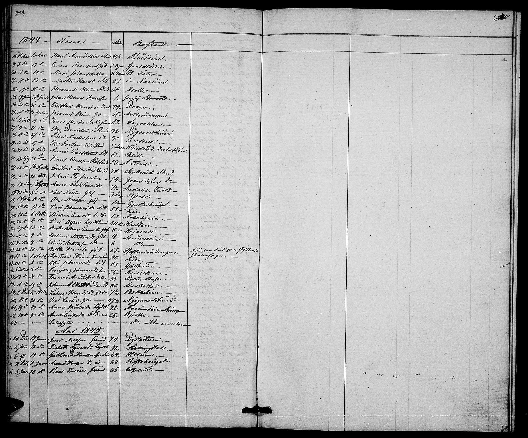 SAH, Vestre Toten prestekontor, Klokkerbok nr. 2, 1836-1848, s. 324-325