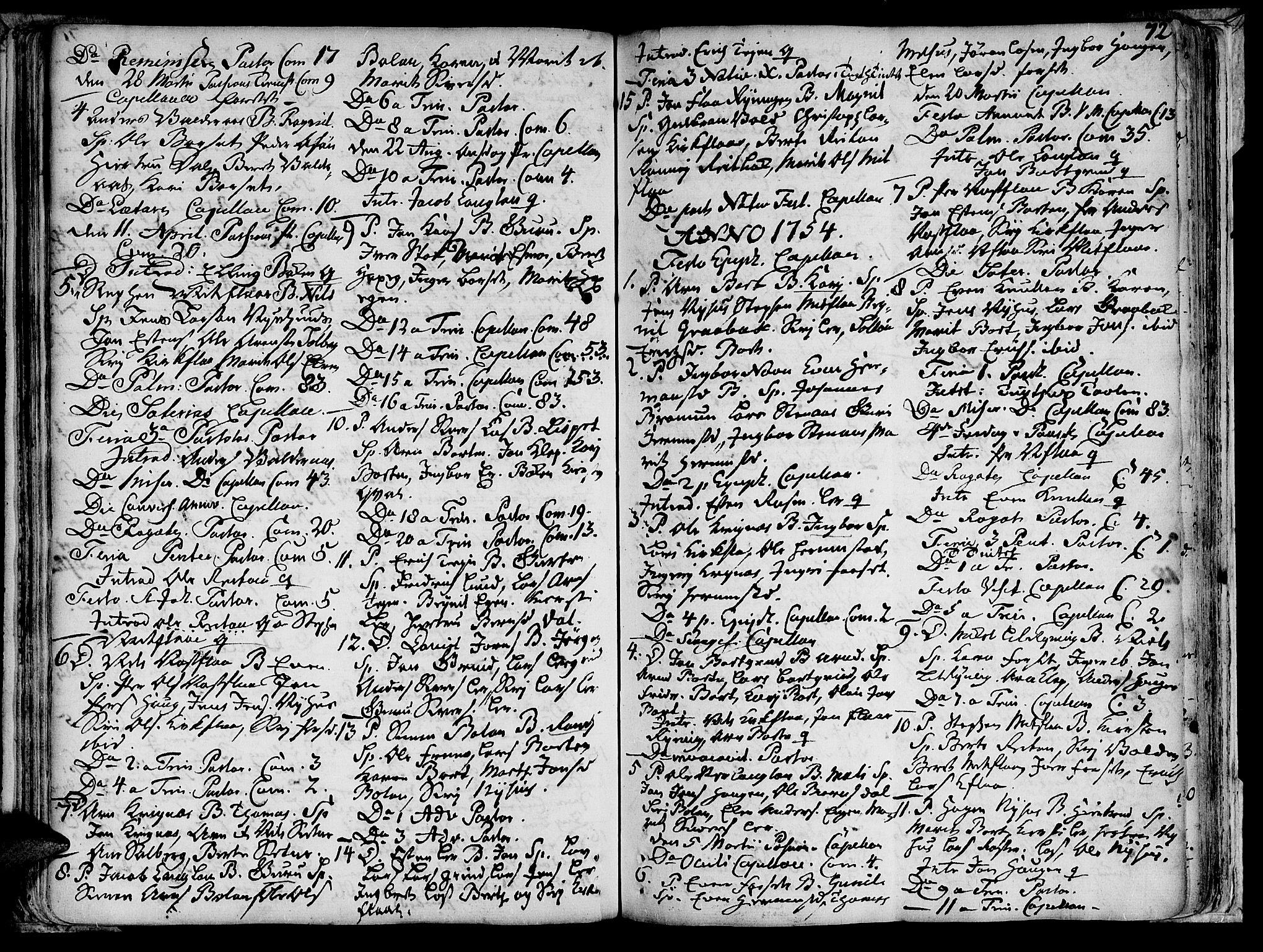 SAT, Ministerialprotokoller, klokkerbøker og fødselsregistre - Sør-Trøndelag, 691/L1058: Ministerialbok nr. 691A01 /2, 1740-1767, s. 72