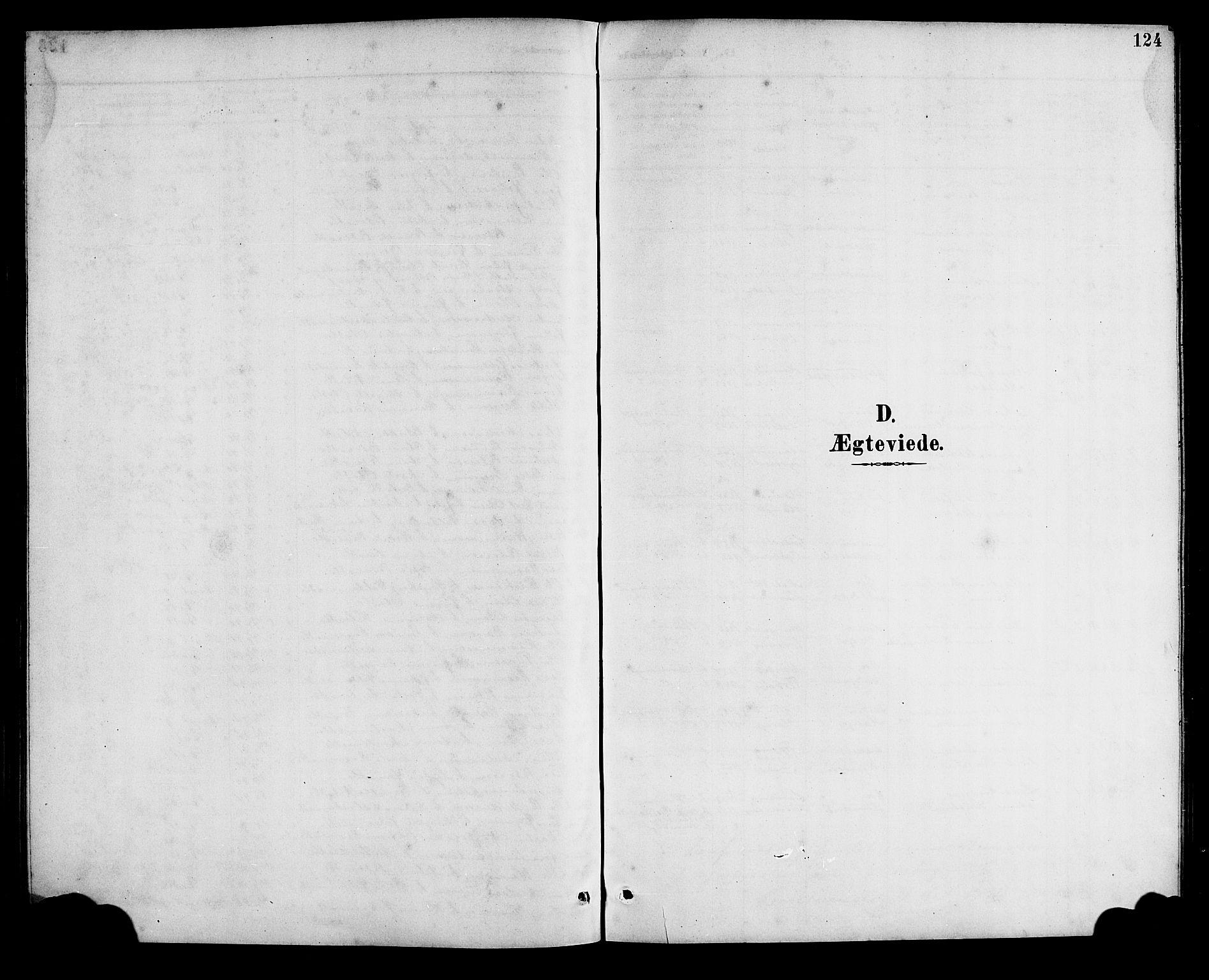 SAB, Bremanger Sokneprestembete, H/Hab: Klokkerbok nr. A 3, 1890-1908, s. 124