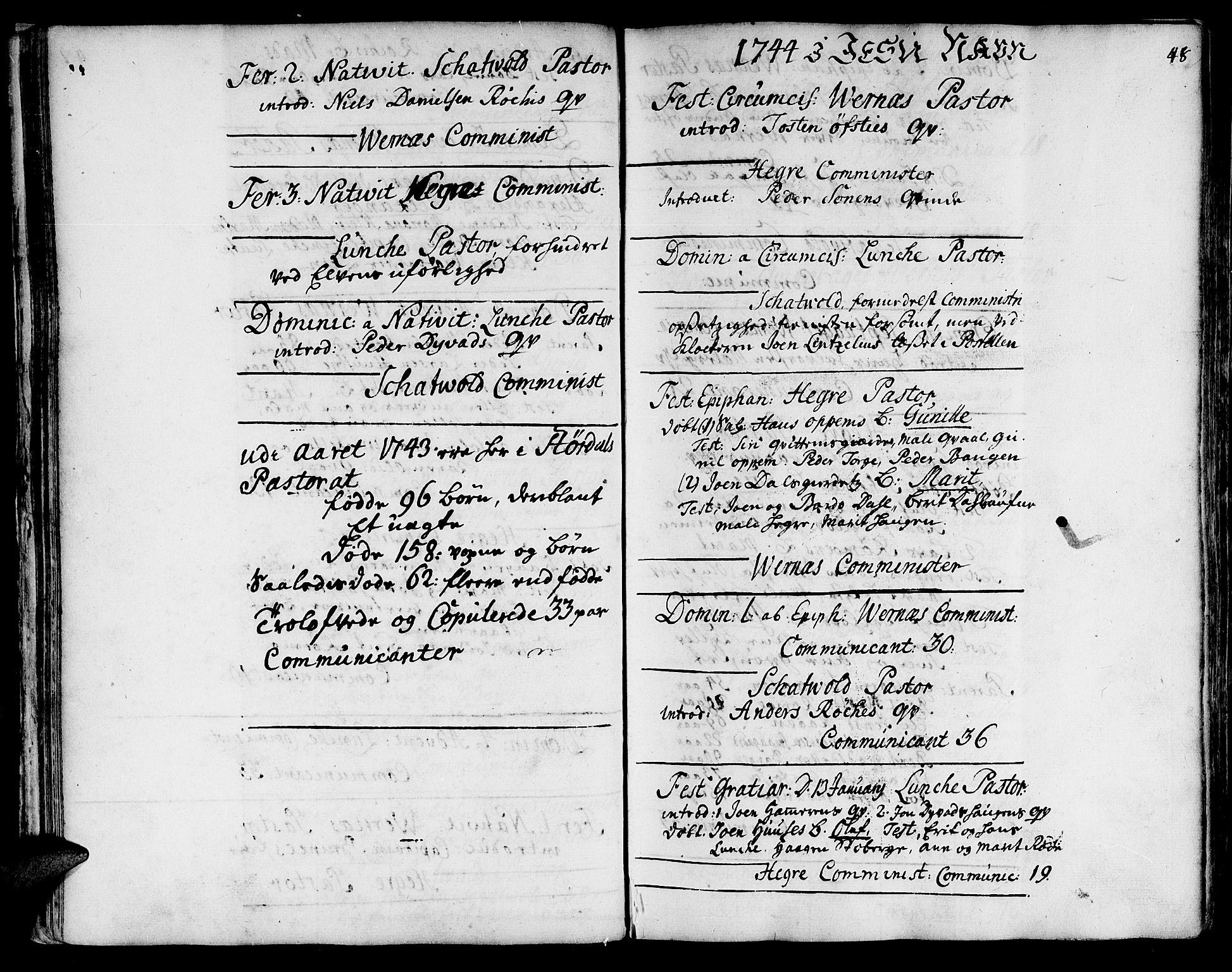 SAT, Ministerialprotokoller, klokkerbøker og fødselsregistre - Nord-Trøndelag, 709/L0056: Ministerialbok nr. 709A04, 1740-1756, s. 48