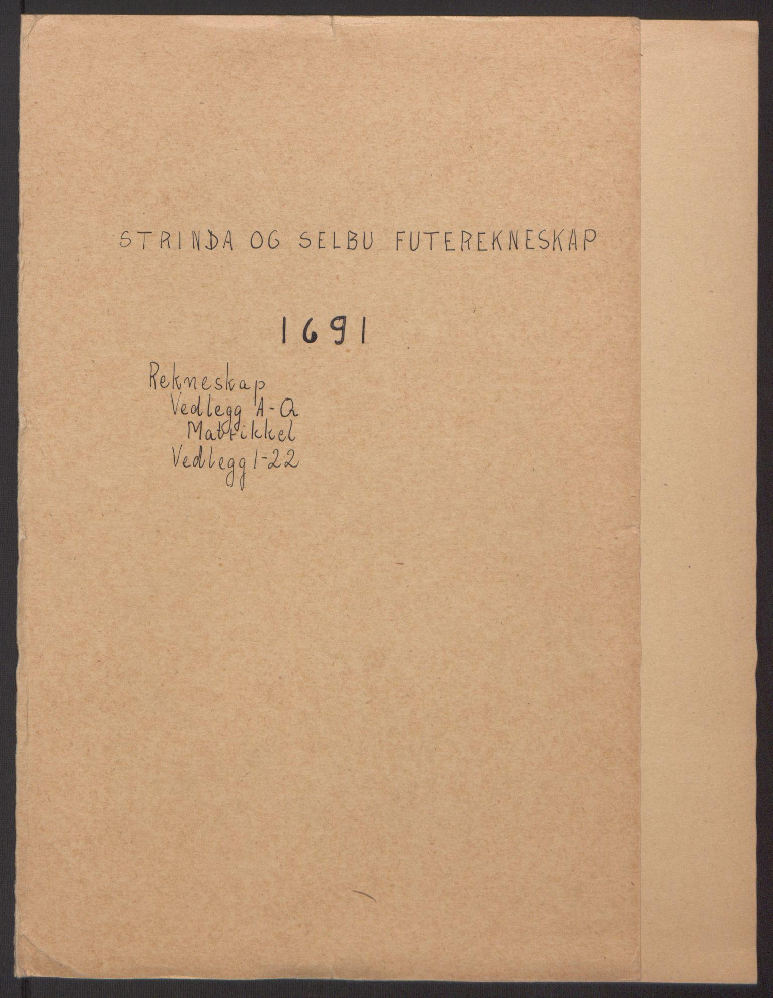 RA, Rentekammeret inntil 1814, Reviderte regnskaper, Fogderegnskap, R61/L4103: Fogderegnskap Strinda og Selbu, 1691-1692, s. 2