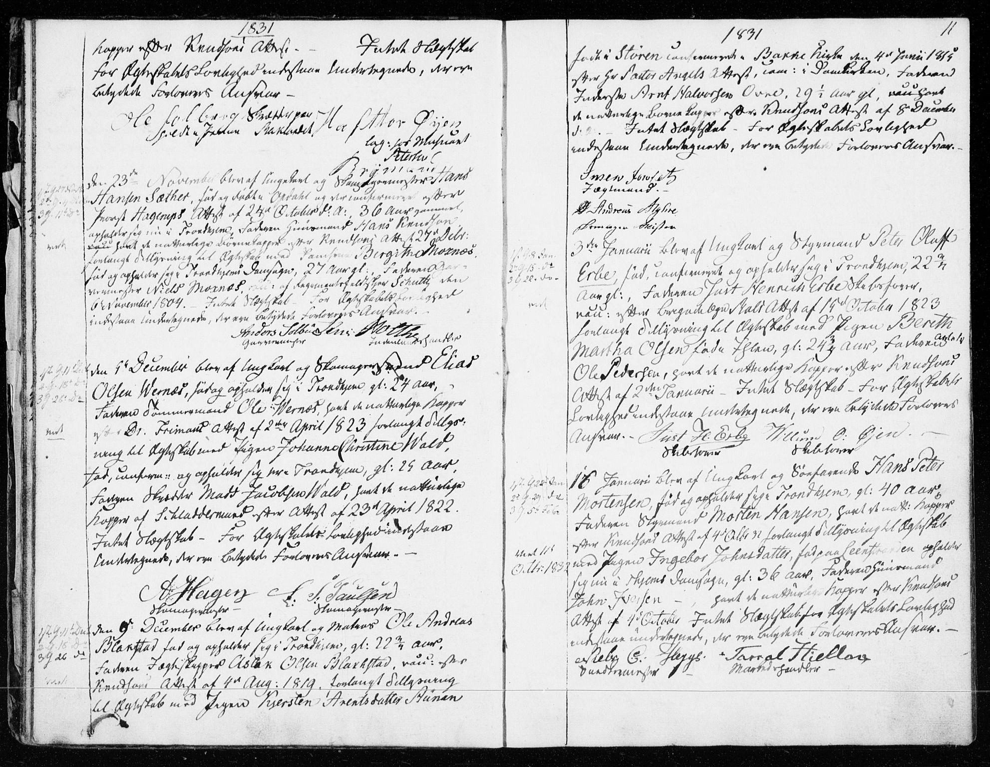 SAT, Ministerialprotokoller, klokkerbøker og fødselsregistre - Sør-Trøndelag, 601/L0046: Ministerialbok nr. 601A14, 1830-1841, s. 11