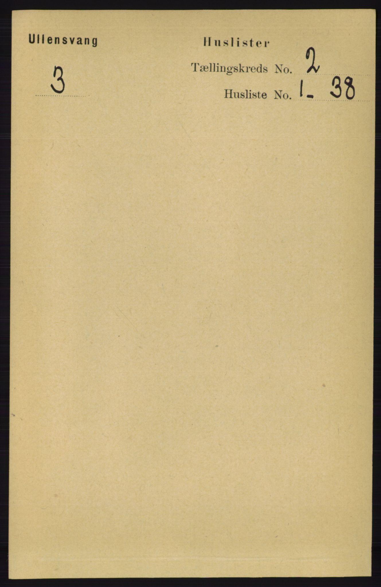 RA, Folketelling 1891 for 1230 Ullensvang herred, 1891, s. 281
