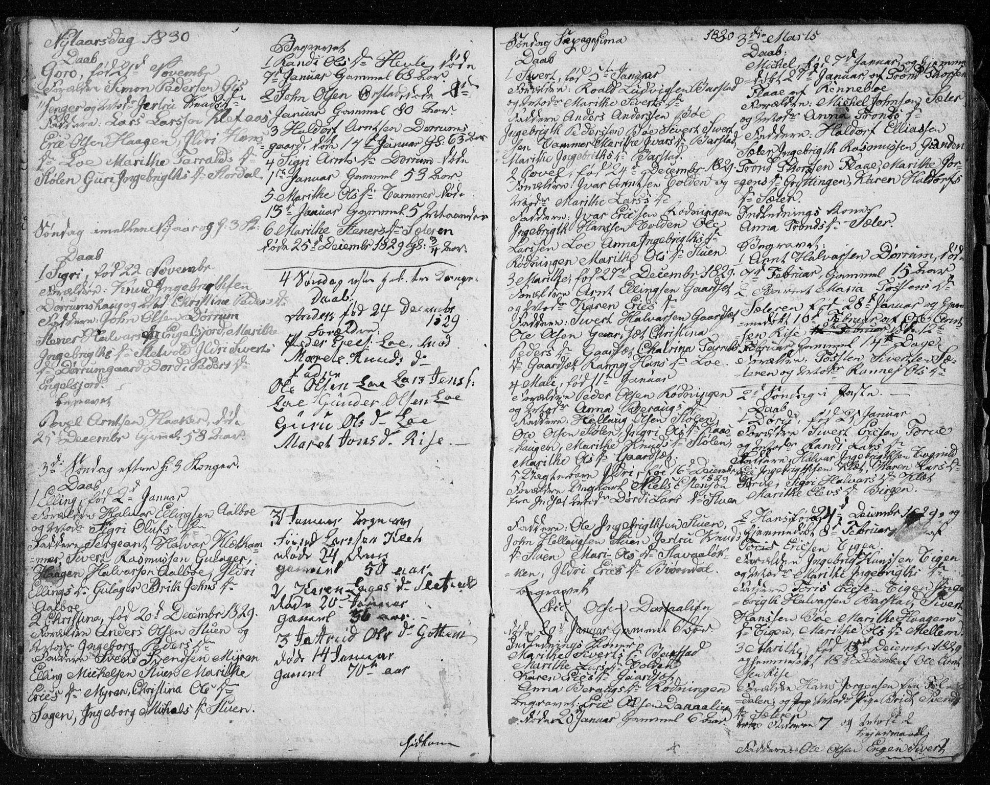 SAT, Ministerialprotokoller, klokkerbøker og fødselsregistre - Sør-Trøndelag, 678/L0913: Klokkerbok nr. 678C02, 1825-1833