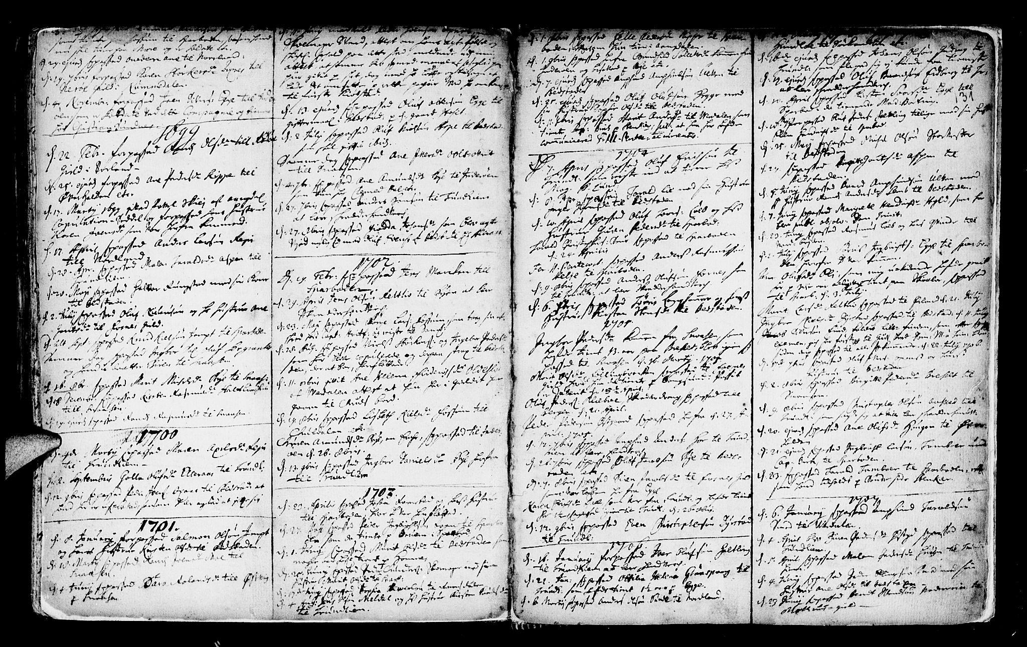 SAT, Ministerialprotokoller, klokkerbøker og fødselsregistre - Nord-Trøndelag, 746/L0439: Ministerialbok nr. 746A01, 1688-1759, s. 131
