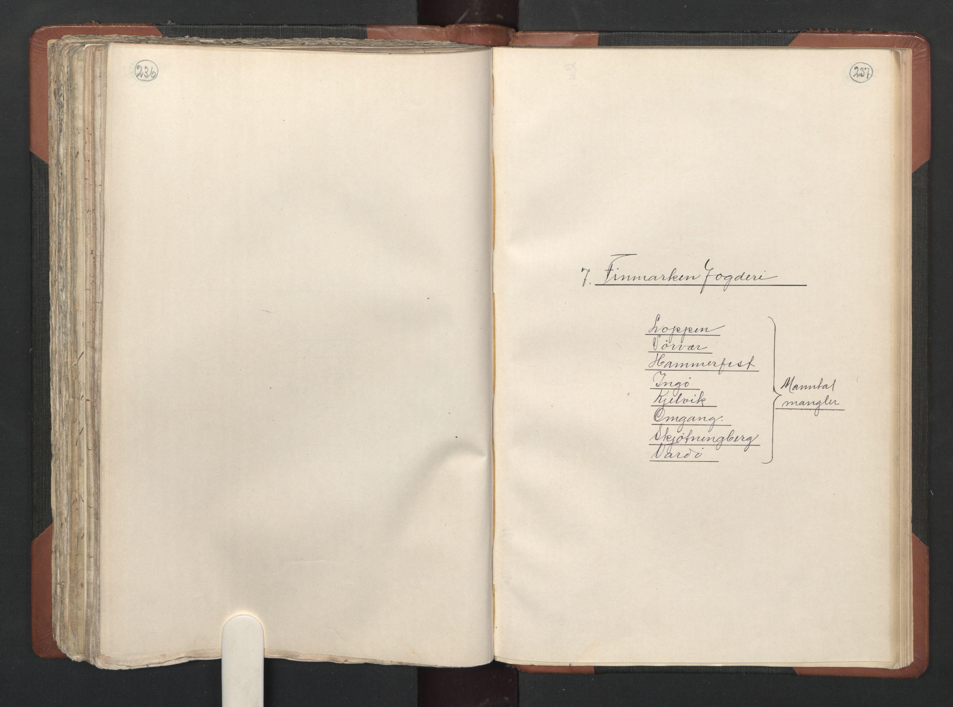 RA, Fogdenes og sorenskrivernes manntall 1664-1666, nr. 20: Fogderier (len og skipreider) i nåværende Nordland fylke, Troms fylke og Finnmark fylke, 1665, s. 236-237