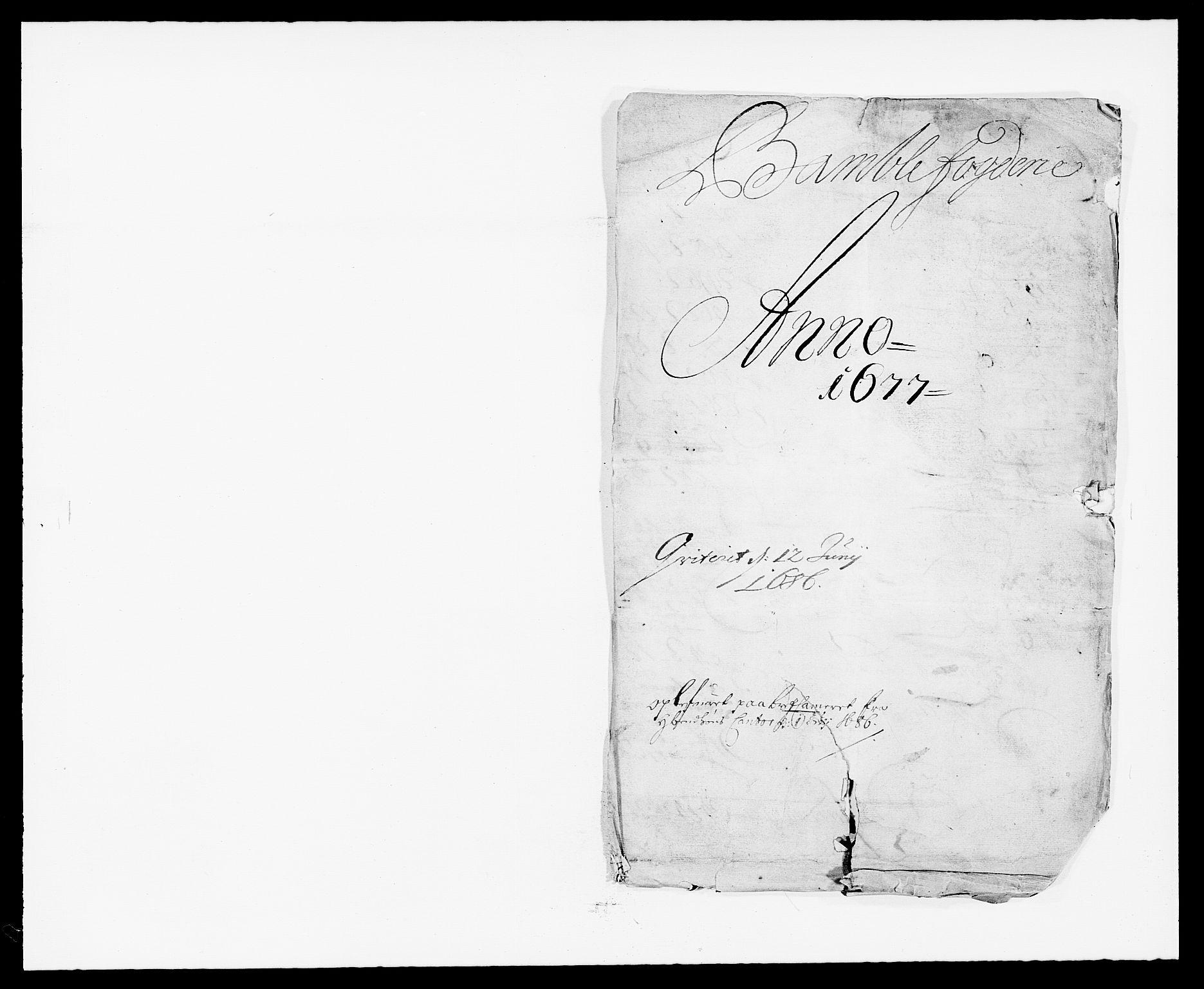 RA, Rentekammeret inntil 1814, Reviderte regnskaper, Fogderegnskap, R34/L2043: Fogderegnskap Bamble, 1676-1677, s. 220