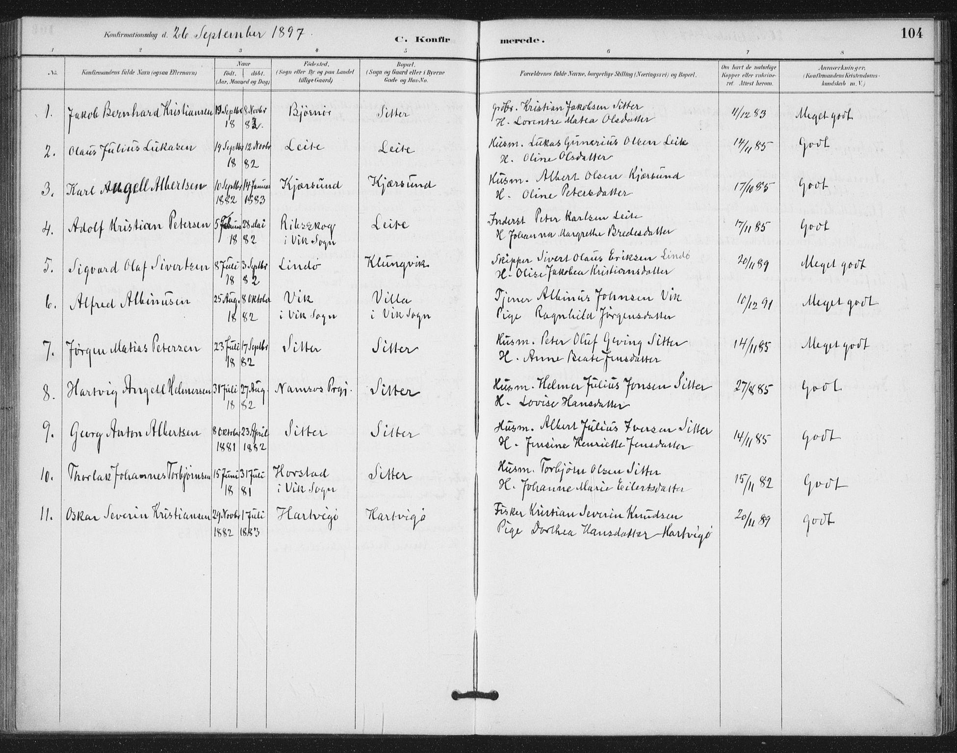 SAT, Ministerialprotokoller, klokkerbøker og fødselsregistre - Nord-Trøndelag, 772/L0603: Ministerialbok nr. 772A01, 1885-1912, s. 104