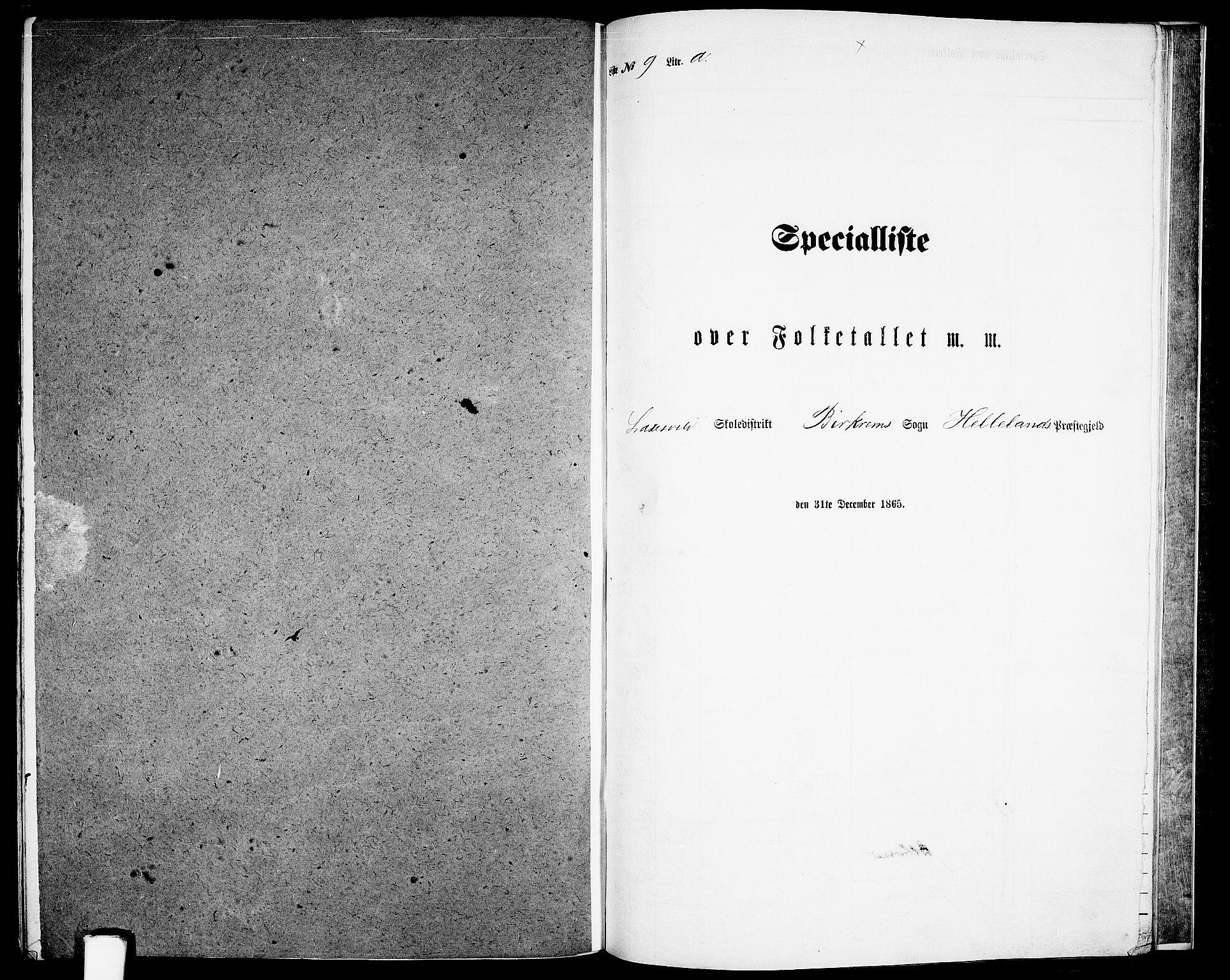 RA, Folketelling 1865 for 1115P Helleland prestegjeld, 1865, s. 130