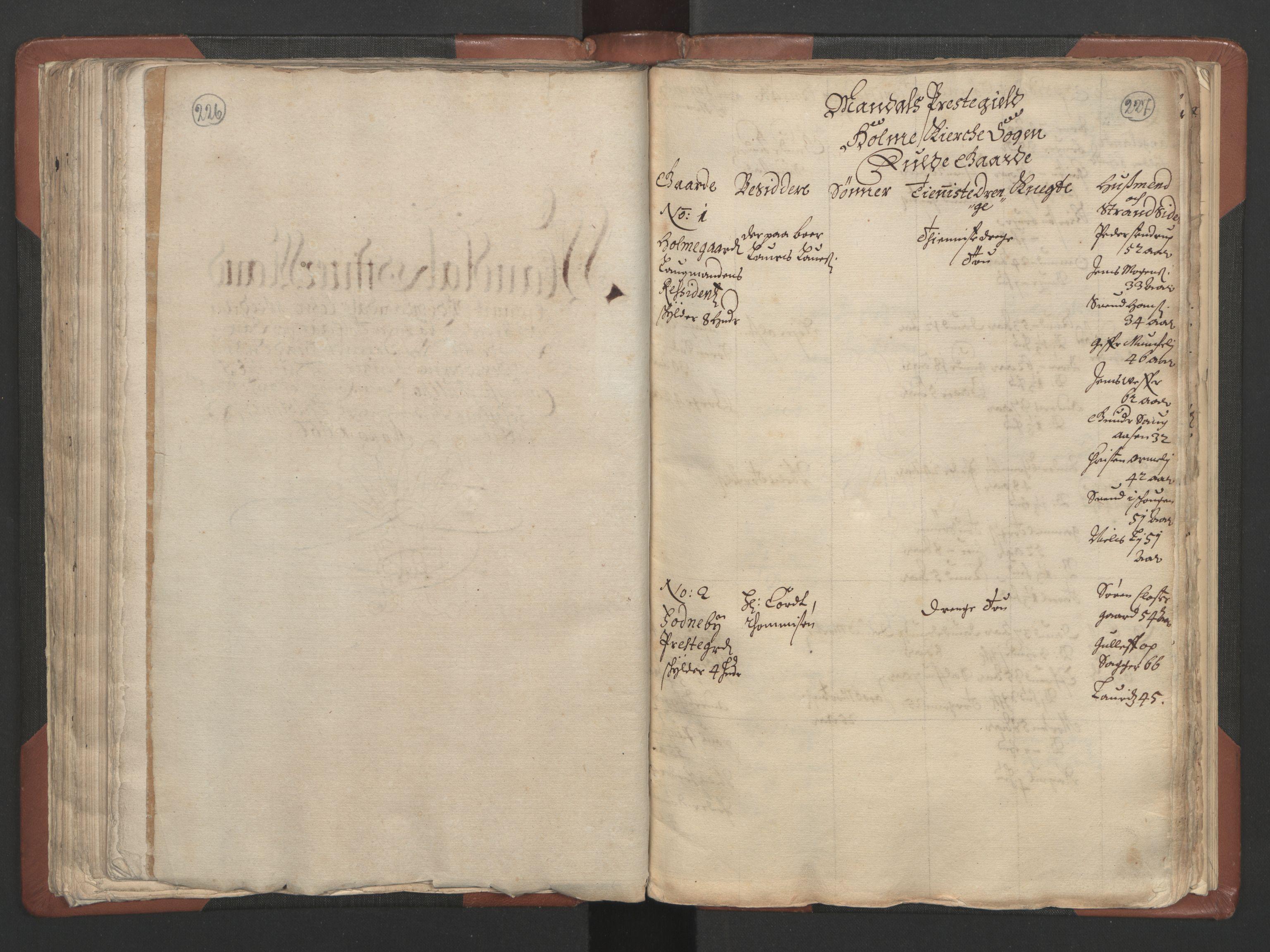 RA, Fogdenes og sorenskrivernes manntall 1664-1666, nr. 9: Mandal len, 1664-1666, s. 226-227