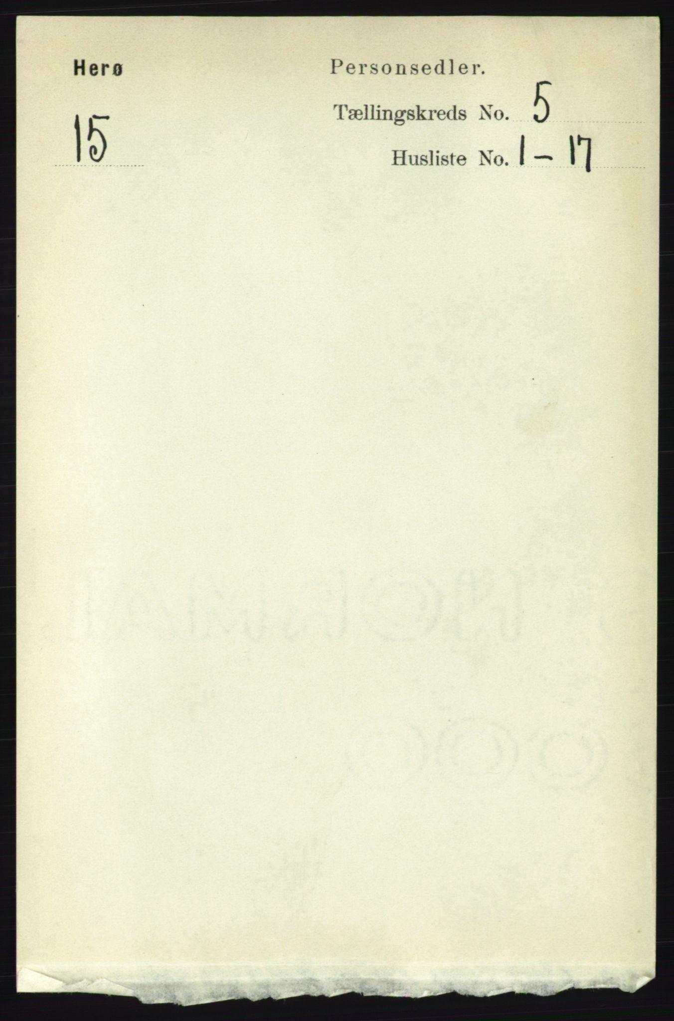 RA, Folketelling 1891 for 1818 Herøy herred, 1891, s. 1399