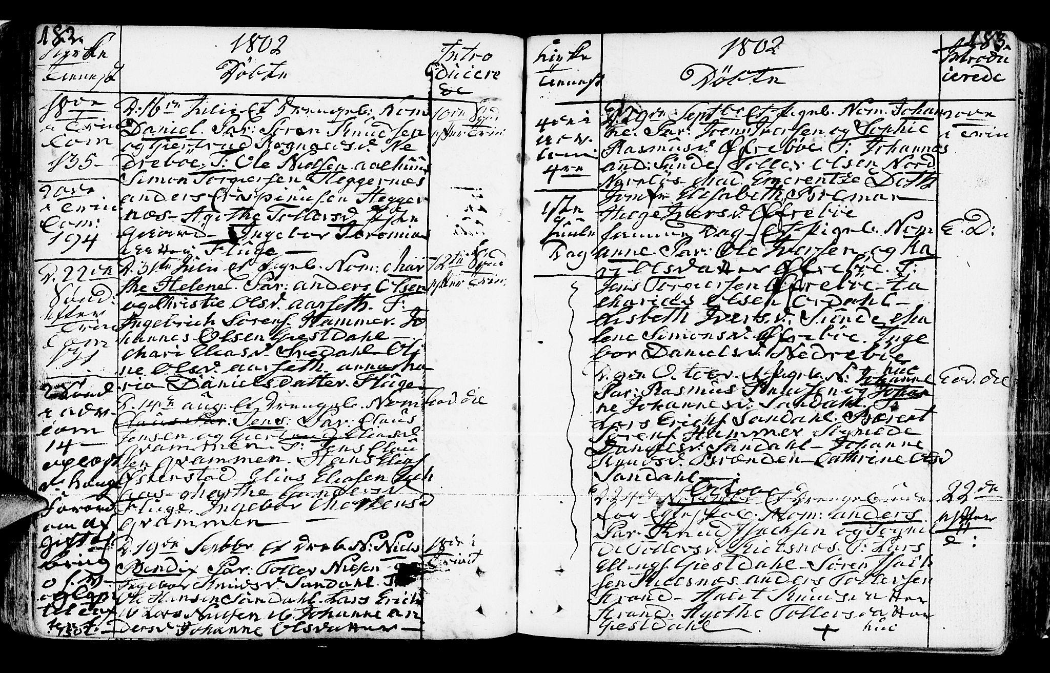 SAB, Jølster sokneprestembete, H/Haa/Haaa/L0005: Ministerialbok nr. A 5, 1790-1821, s. 182-183