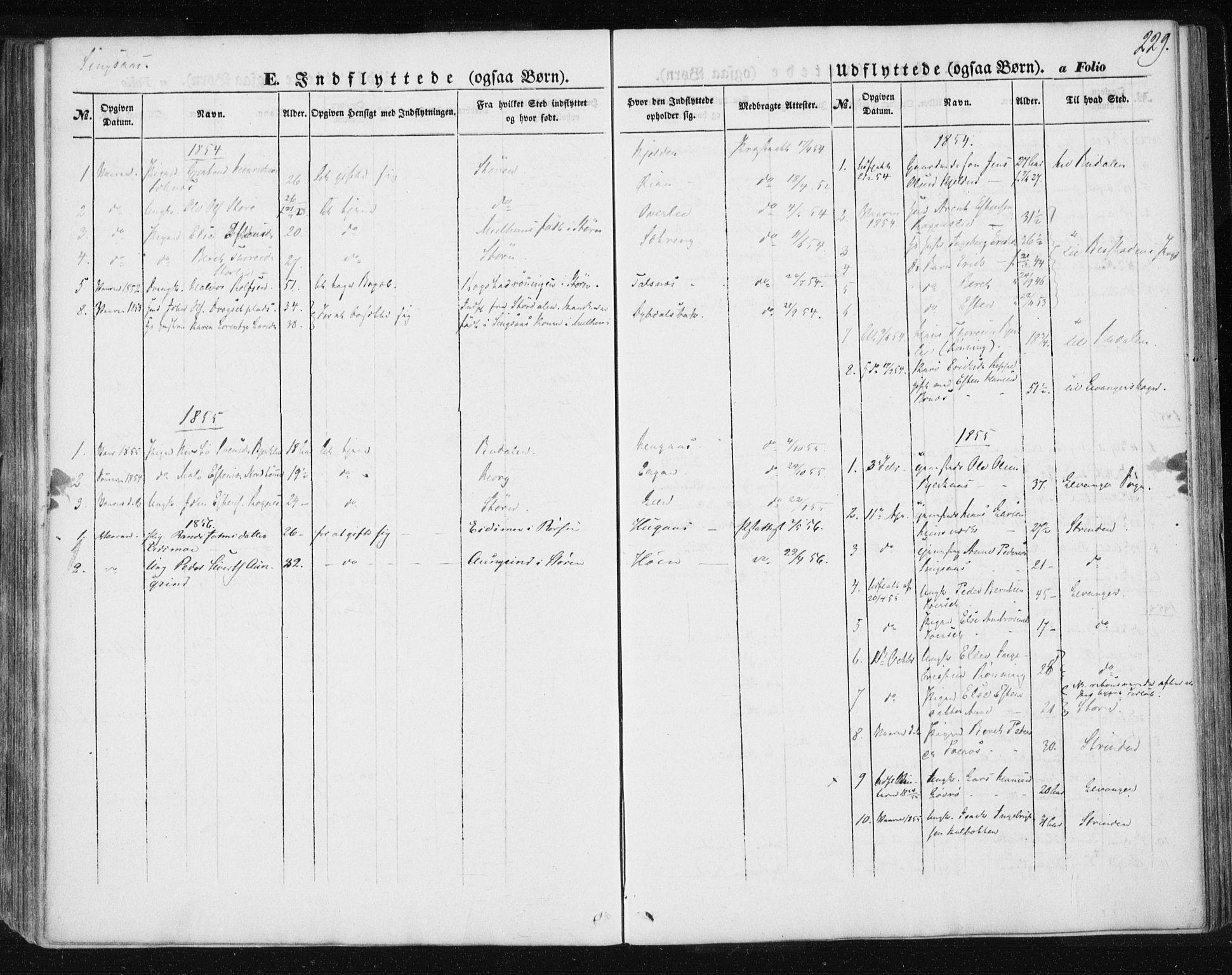 SAT, Ministerialprotokoller, klokkerbøker og fødselsregistre - Sør-Trøndelag, 685/L0964: Ministerialbok nr. 685A06 /2, 1846-1859, s. 229