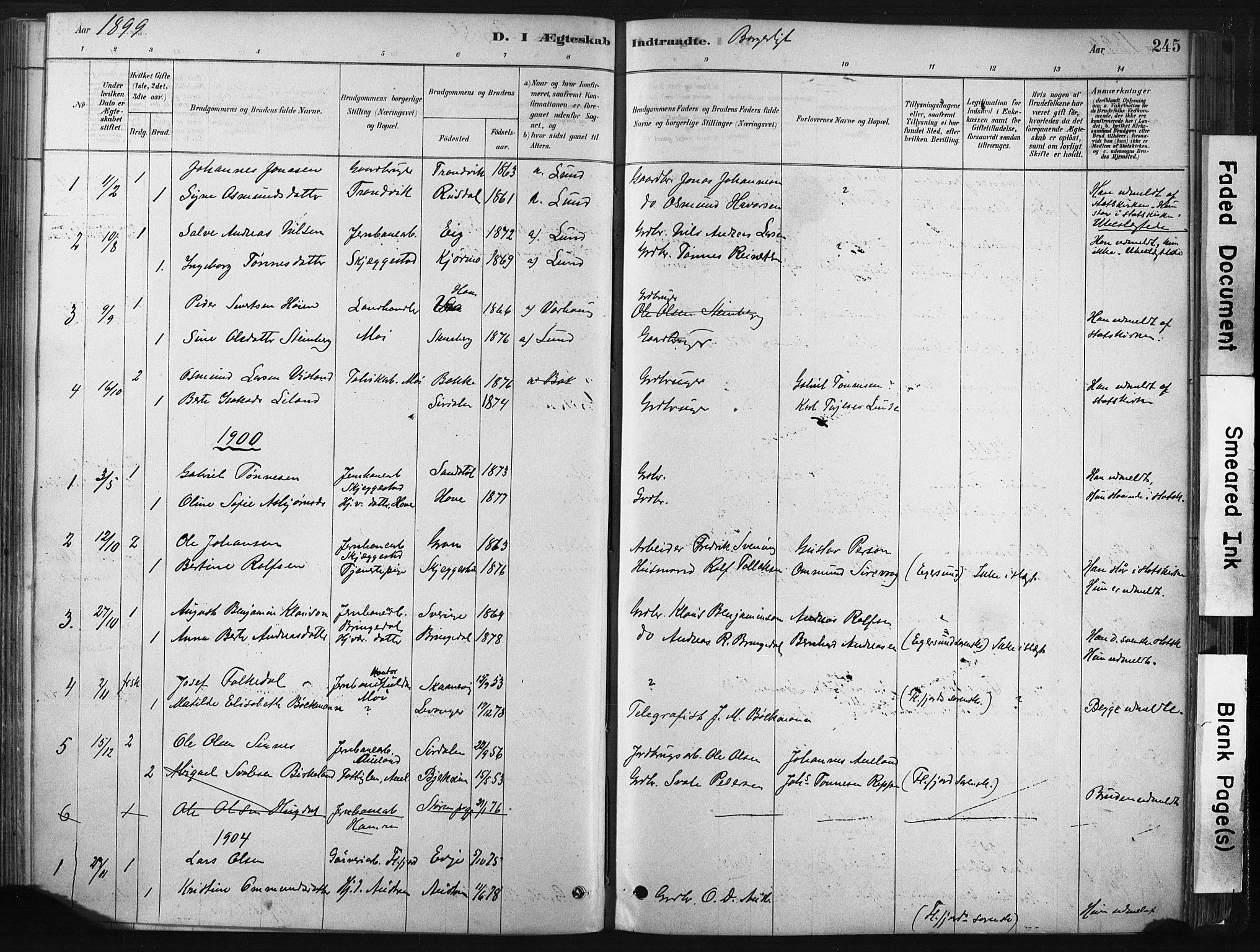 SAST, Lund sokneprestkontor, Ministerialbok nr. A 10, 1877-1904, s. 245