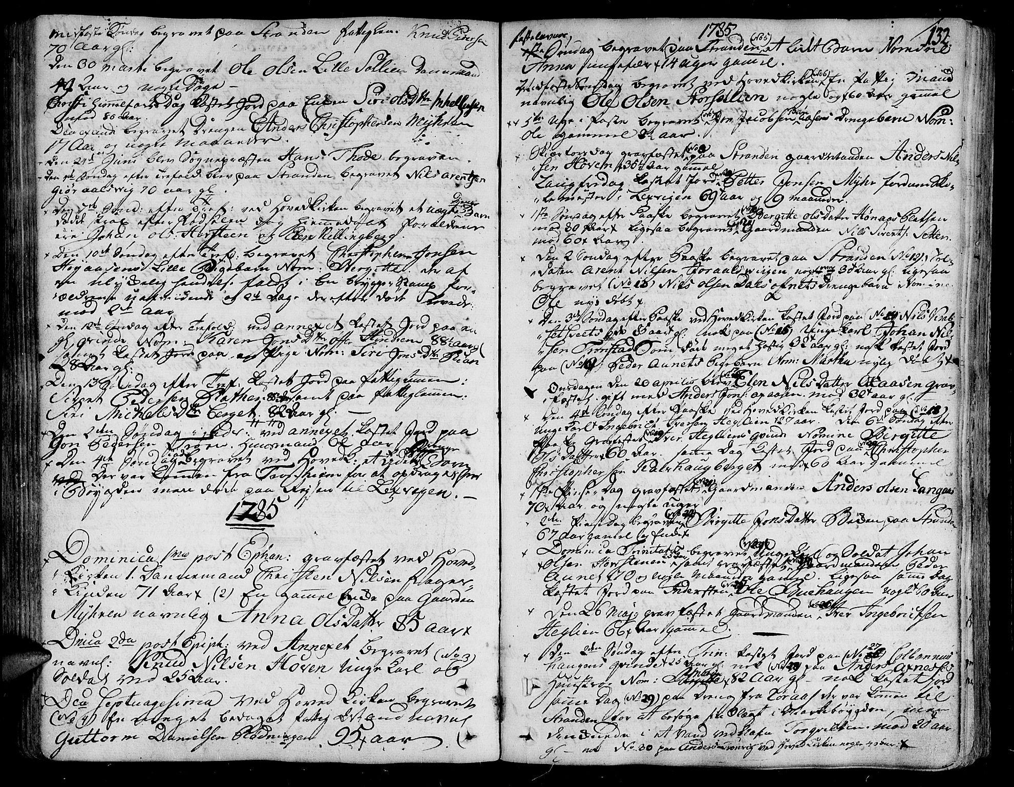 SAT, Ministerialprotokoller, klokkerbøker og fødselsregistre - Nord-Trøndelag, 701/L0004: Ministerialbok nr. 701A04, 1783-1816, s. 132
