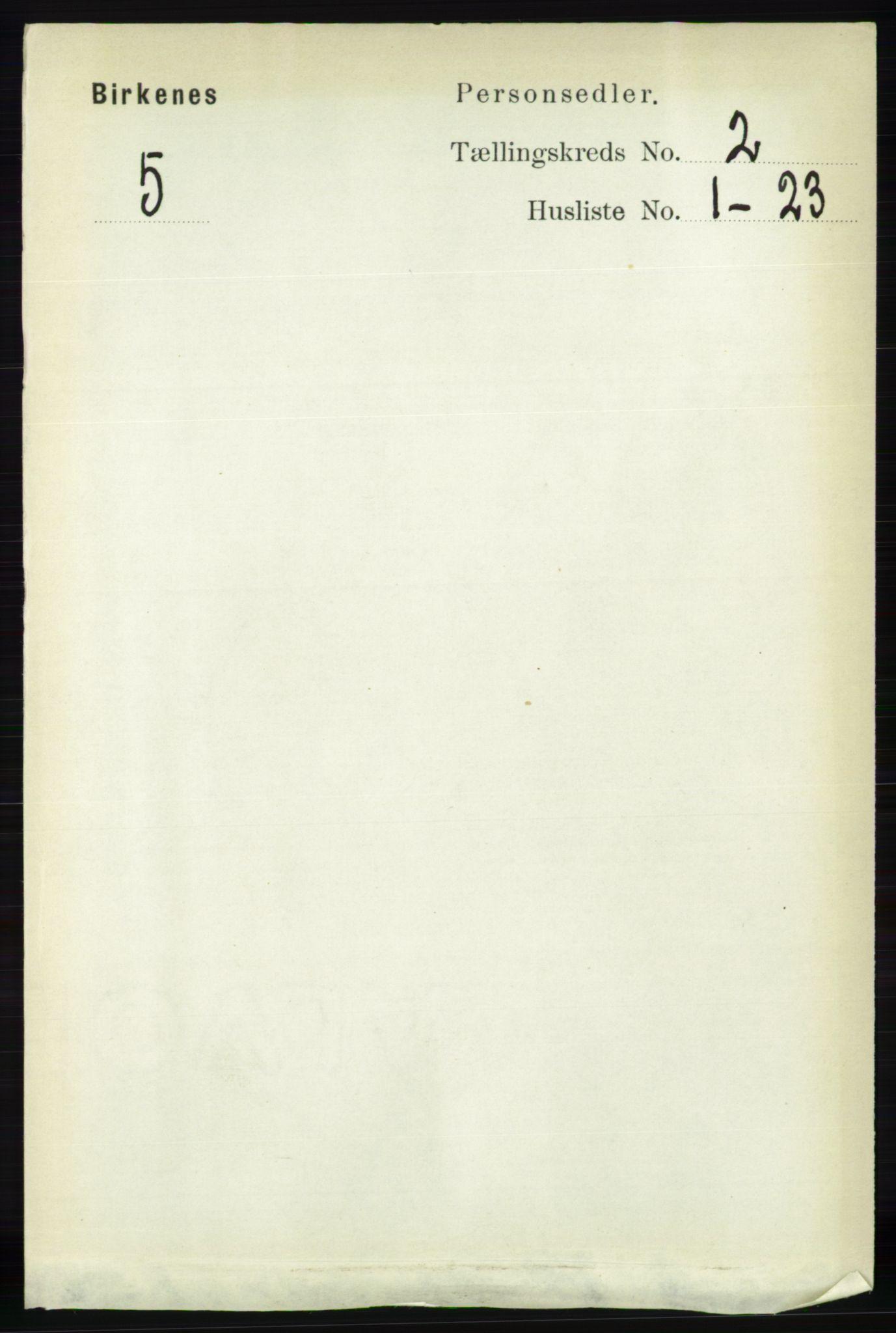 RA, Folketelling 1891 for 0928 Birkenes herred, 1891, s. 499