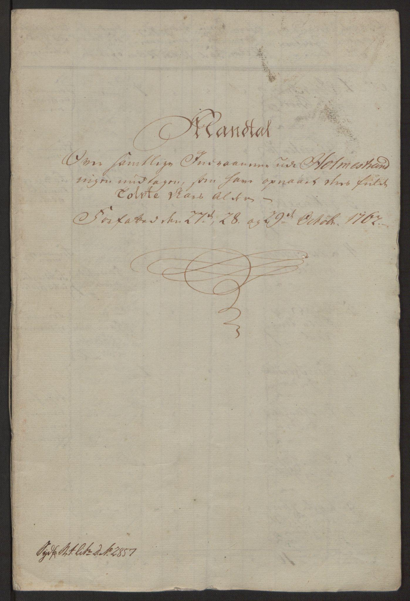 RA, Rentekammeret inntil 1814, Reviderte regnskaper, Byregnskaper, R/Rh/L0163: [H4] Kontribusjonsregnskap, 1762-1772, s. 7