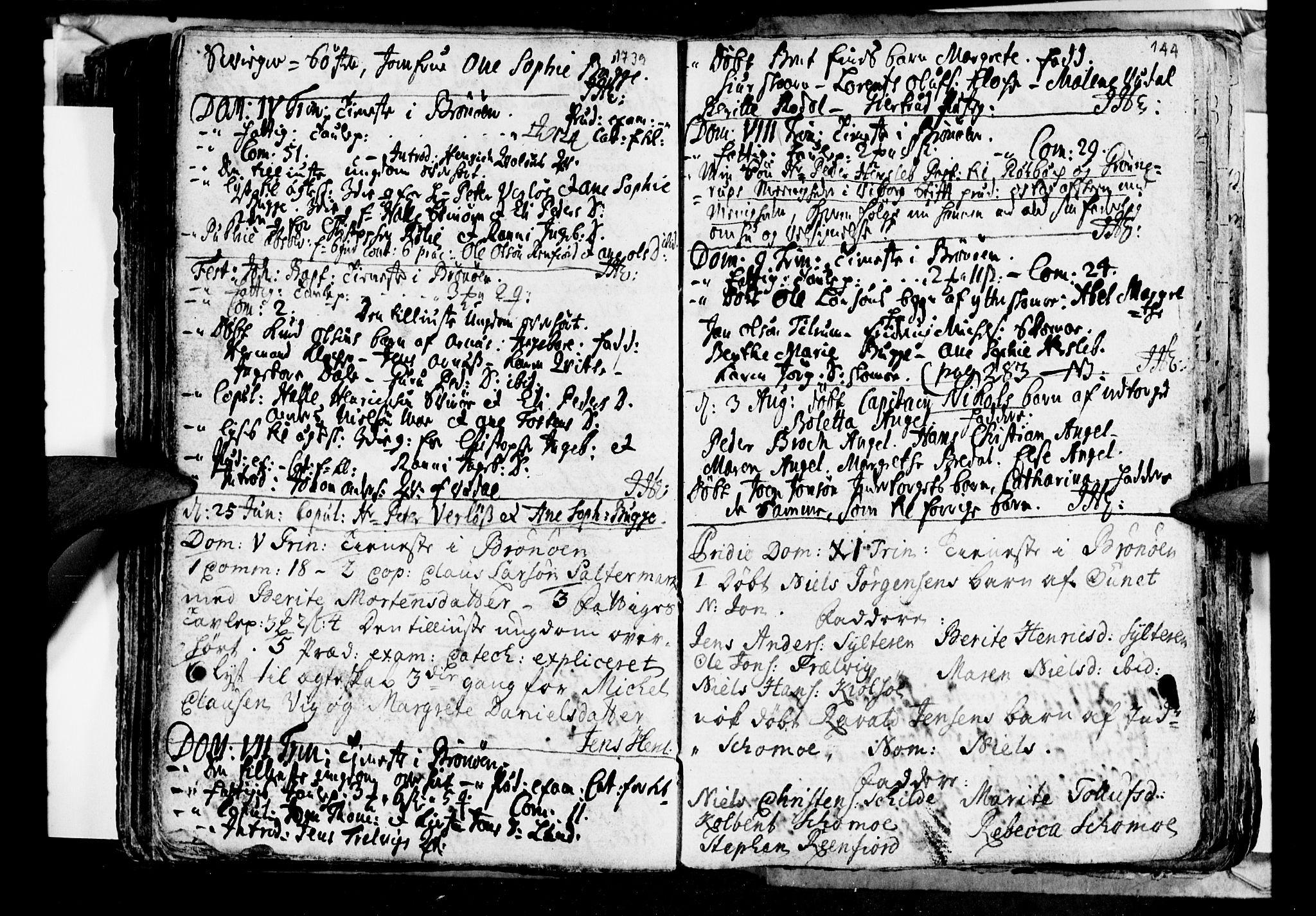 SAT, Ministerialprotokoller, klokkerbøker og fødselsregistre - Nordland, 813/L0194: Ministerialbok nr. 813A04, 1719-1758, s. 144