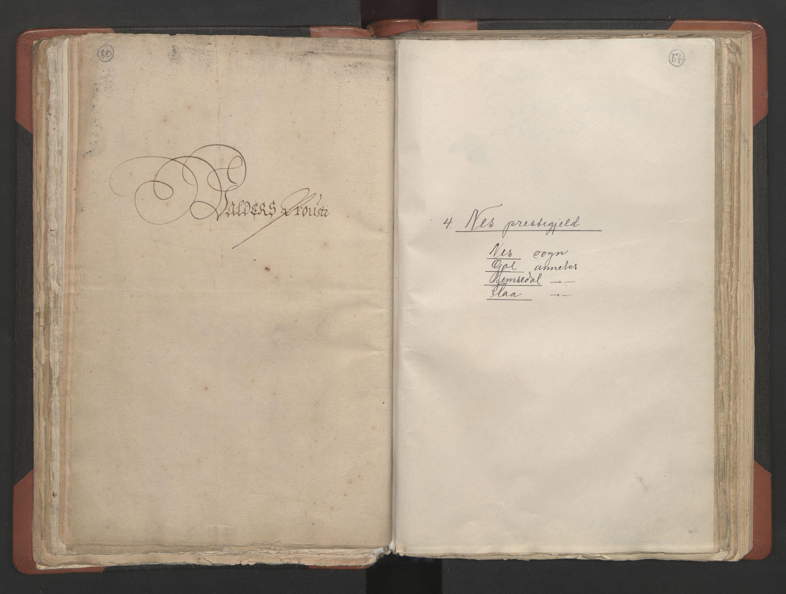RA, Sogneprestenes manntall 1664-1666, nr. 8: Valdres prosti, 1664-1666, s. 86-87