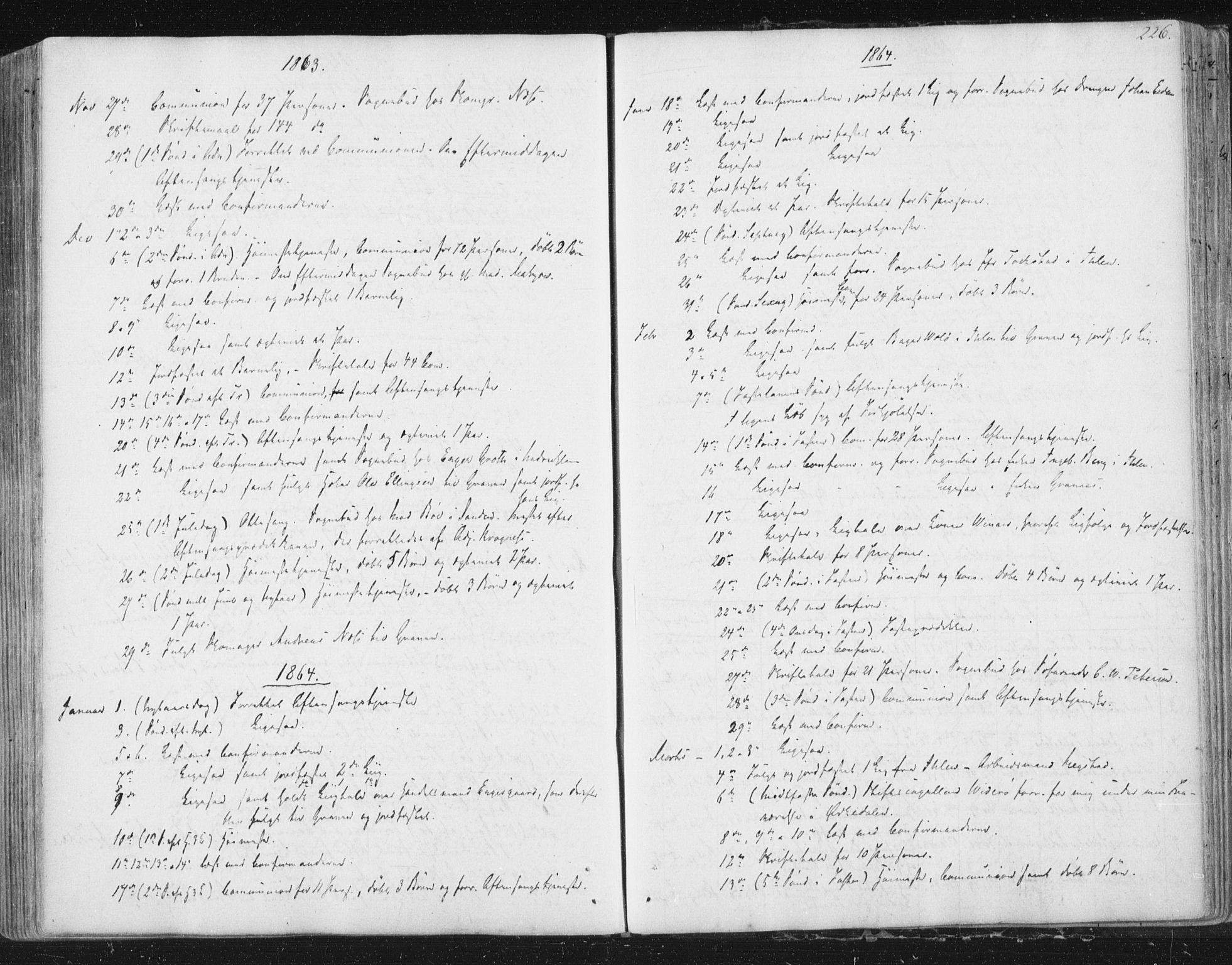 SAT, Ministerialprotokoller, klokkerbøker og fødselsregistre - Sør-Trøndelag, 602/L0127: Residerende kapellans bok nr. 602B01, 1821-1875, s. 226