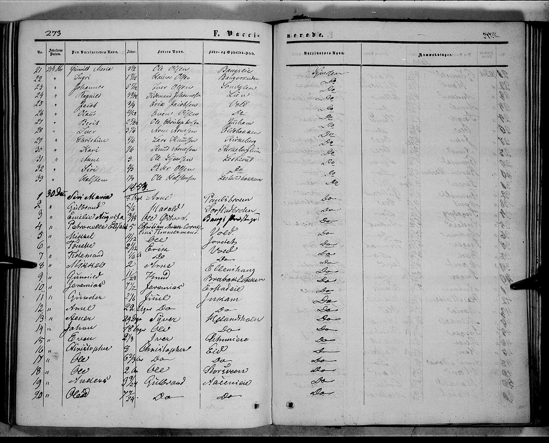 SAH, Sør-Aurdal prestekontor, Ministerialbok nr. 5, 1849-1876, s. 273
