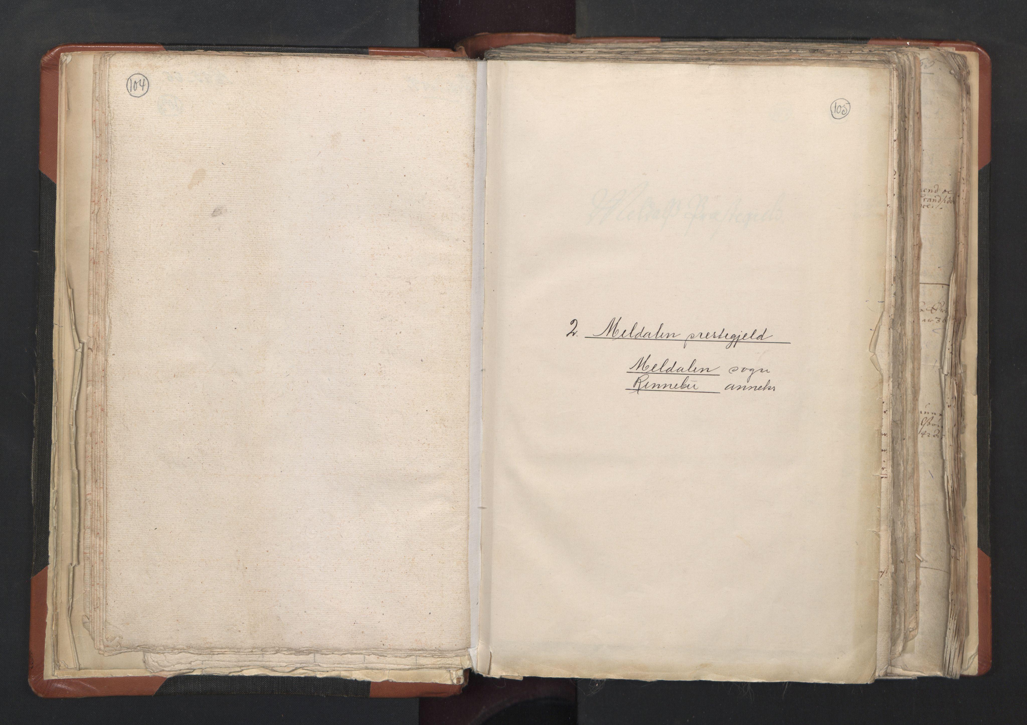 RA, Sogneprestenes manntall 1664-1666, nr. 31: Dalane prosti, 1664-1666, s. 104-105