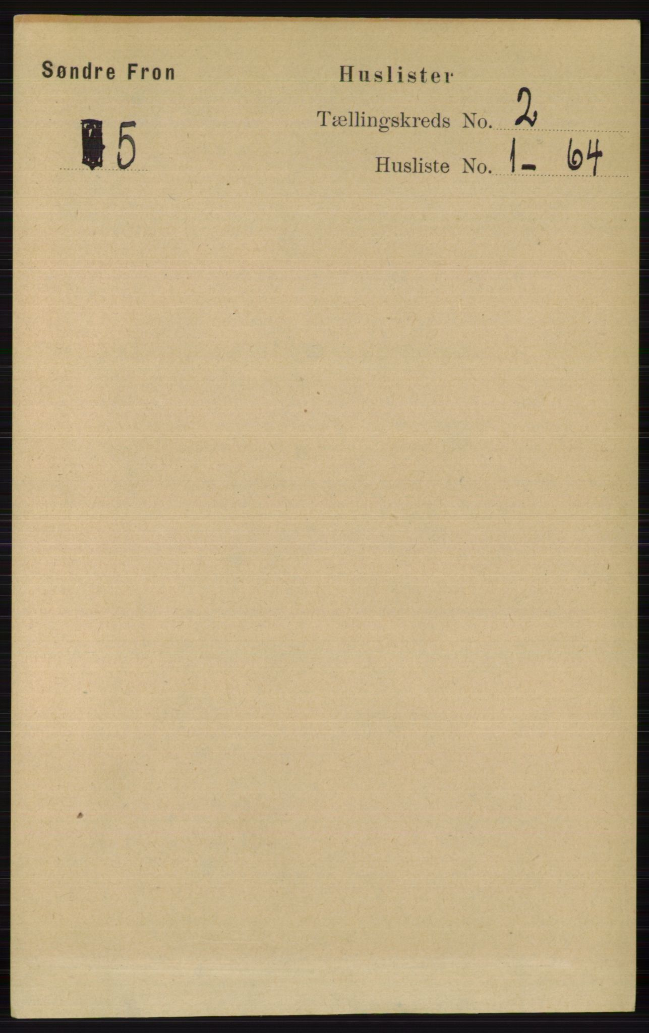 RA, Folketelling 1891 for 0519 Sør-Fron herred, 1891, s. 495