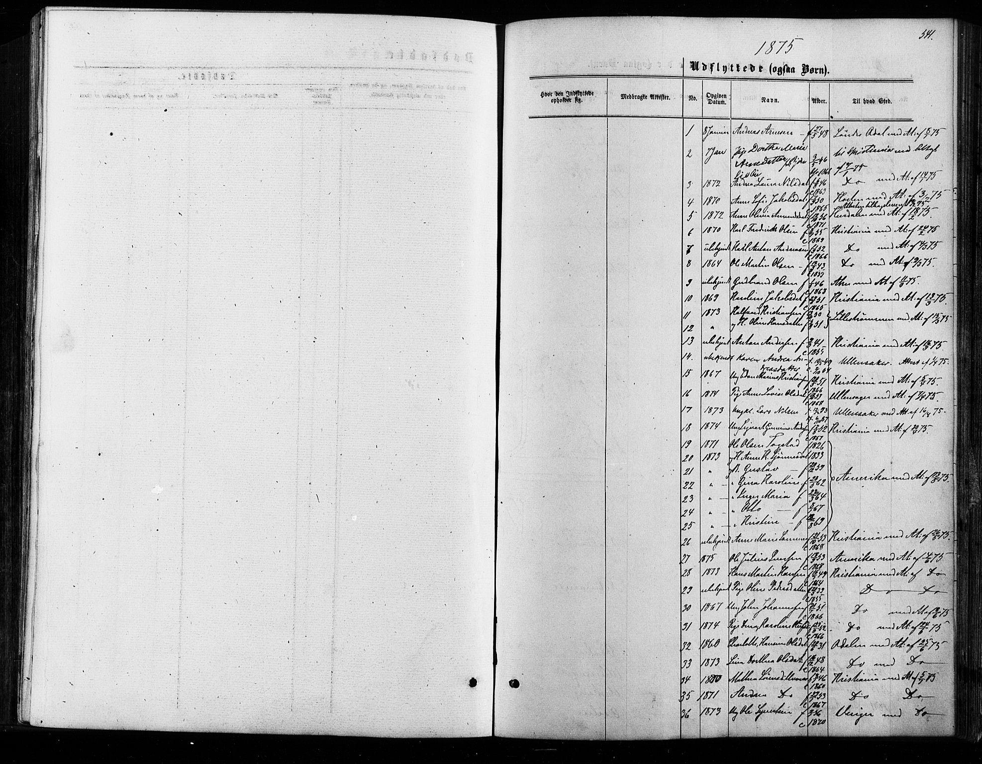 SAO, Nes prestekontor Kirkebøker, F/Fa/L0009: Ministerialbok nr. I 9, 1875-1882, s. 541