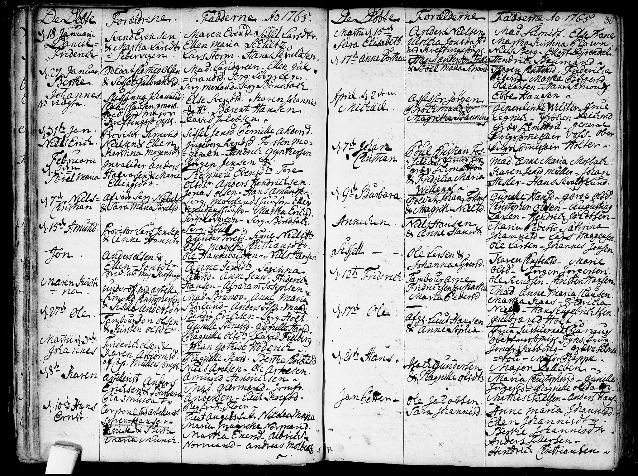 SAO, Garnisonsmenigheten Kirkebøker, F/Fa/L0002: Ministerialbok nr. 2, 1757-1776, s. 30