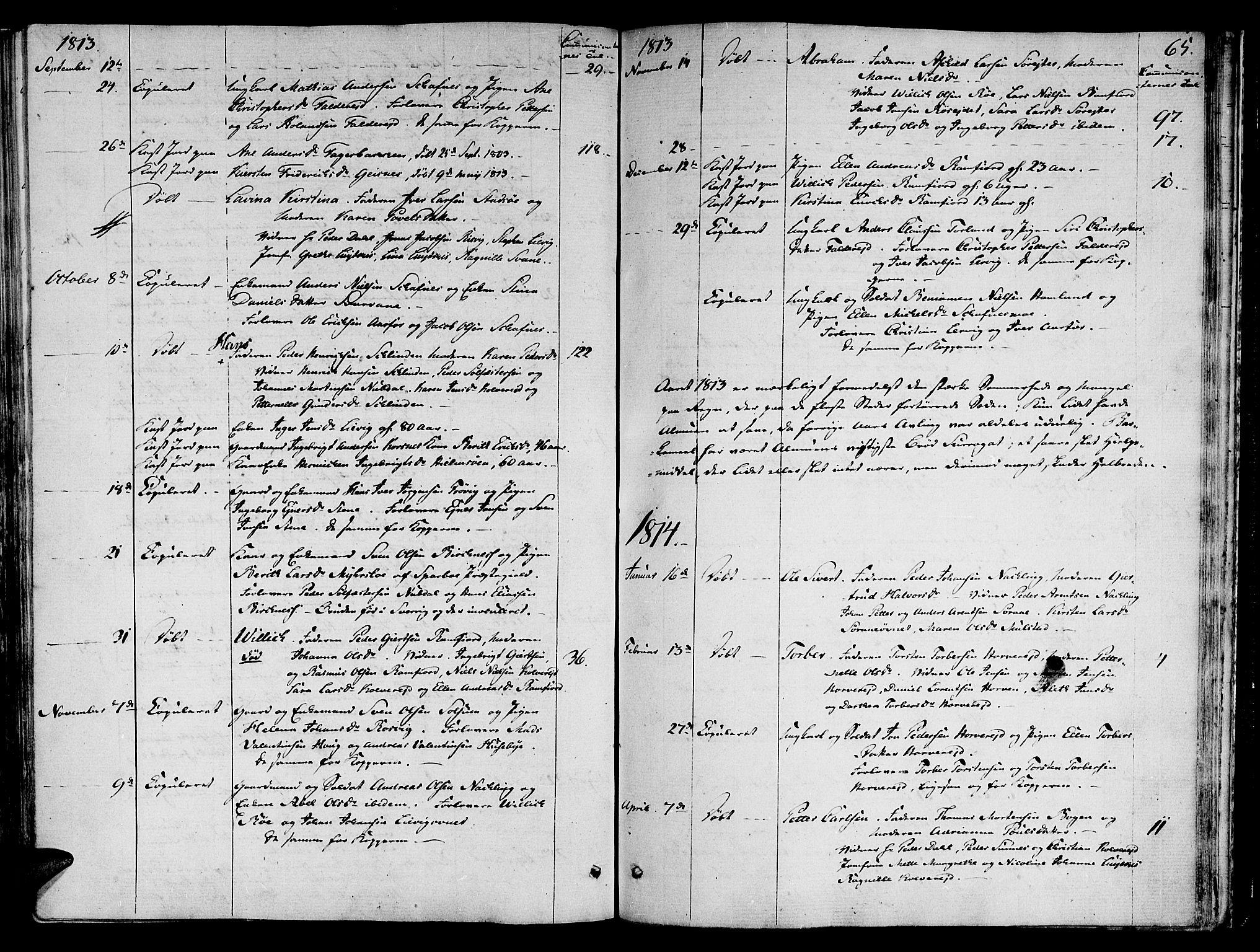 SAT, Ministerialprotokoller, klokkerbøker og fødselsregistre - Nord-Trøndelag, 780/L0633: Ministerialbok nr. 780A02 /1, 1787-1814, s. 65
