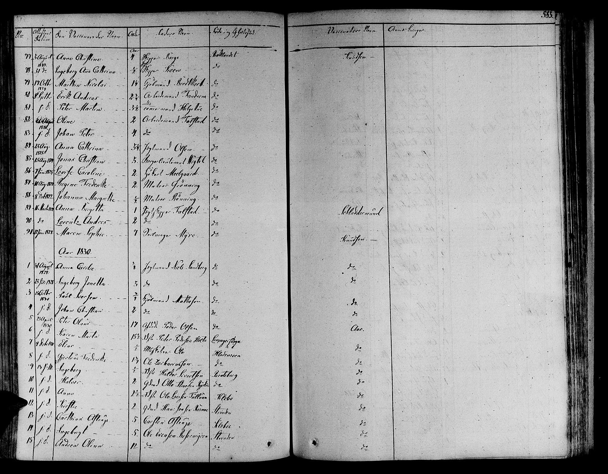 SAT, Ministerialprotokoller, klokkerbøker og fødselsregistre - Sør-Trøndelag, 606/L0286: Ministerialbok nr. 606A04 /1, 1823-1840, s. 583