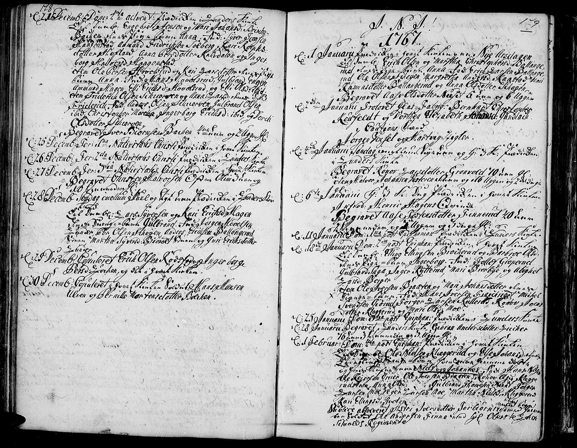 SAH, Jevnaker prestekontor, Ministerialbok nr. 3, 1752-1799, s. 178-179