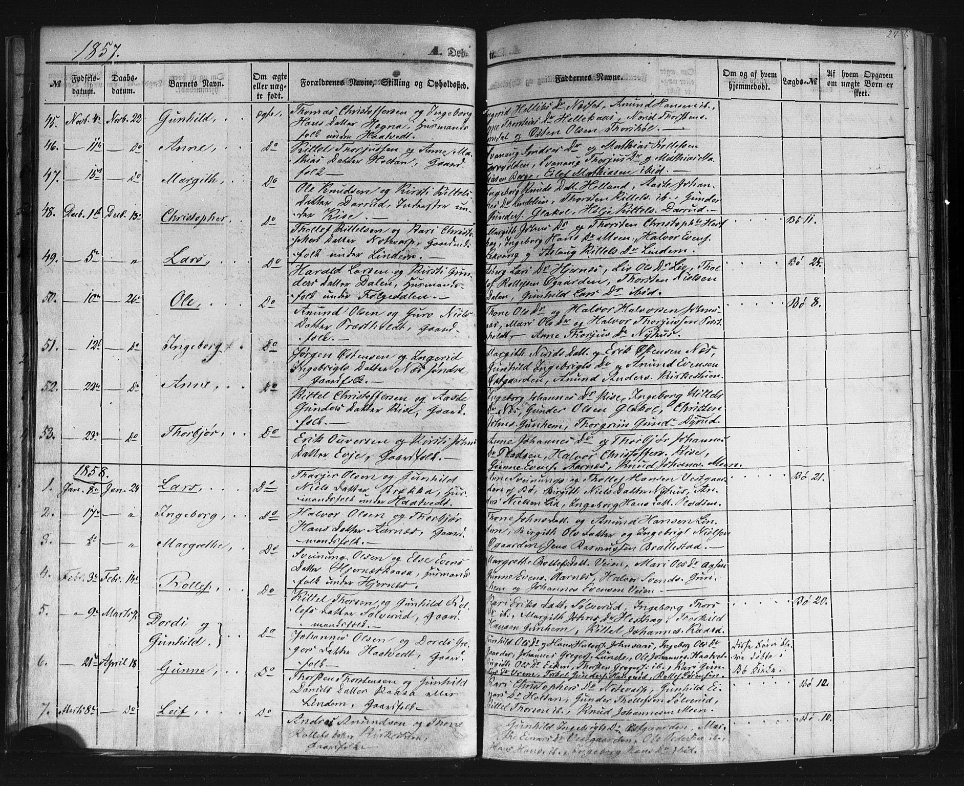 SAKO, Sauherad kirkebøker, F/Fb/L0001: Ministerialbok nr. II 1, 1851-1877, s. 24