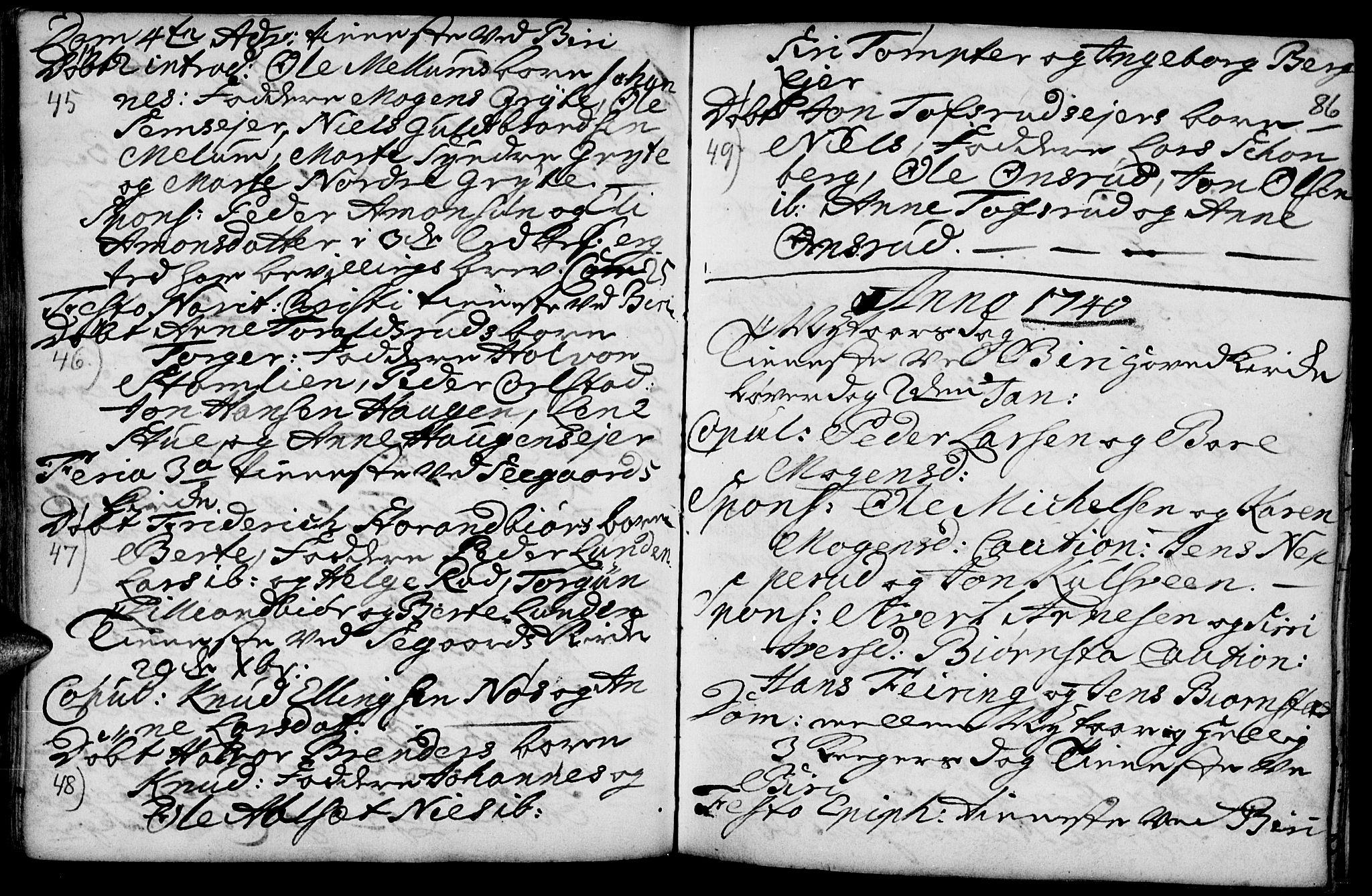 SAH, Biri prestekontor, Ministerialbok nr. 1, 1730-1754, s. 86