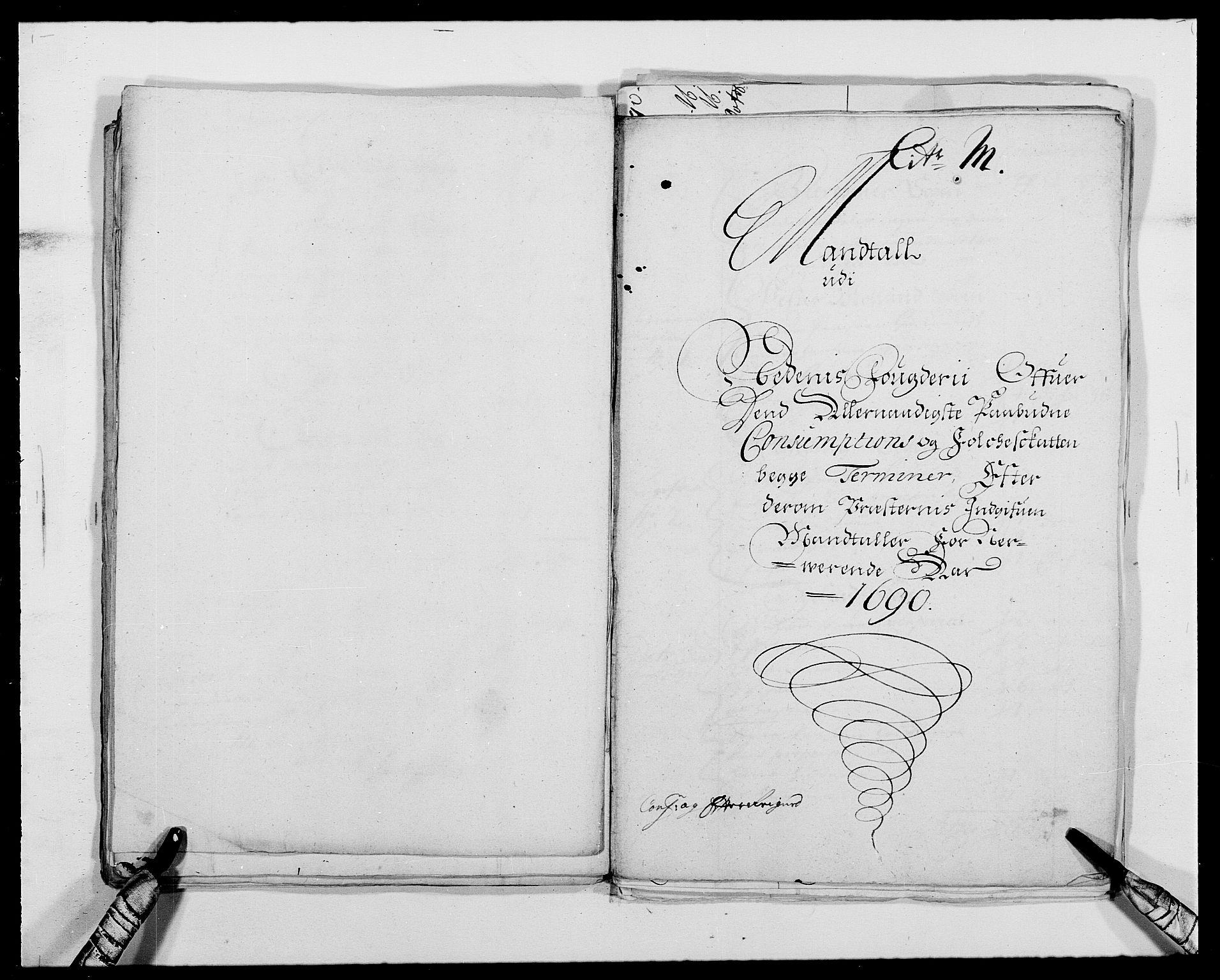 RA, Rentekammeret inntil 1814, Reviderte regnskaper, Fogderegnskap, R39/L2310: Fogderegnskap Nedenes, 1690-1692, s. 241